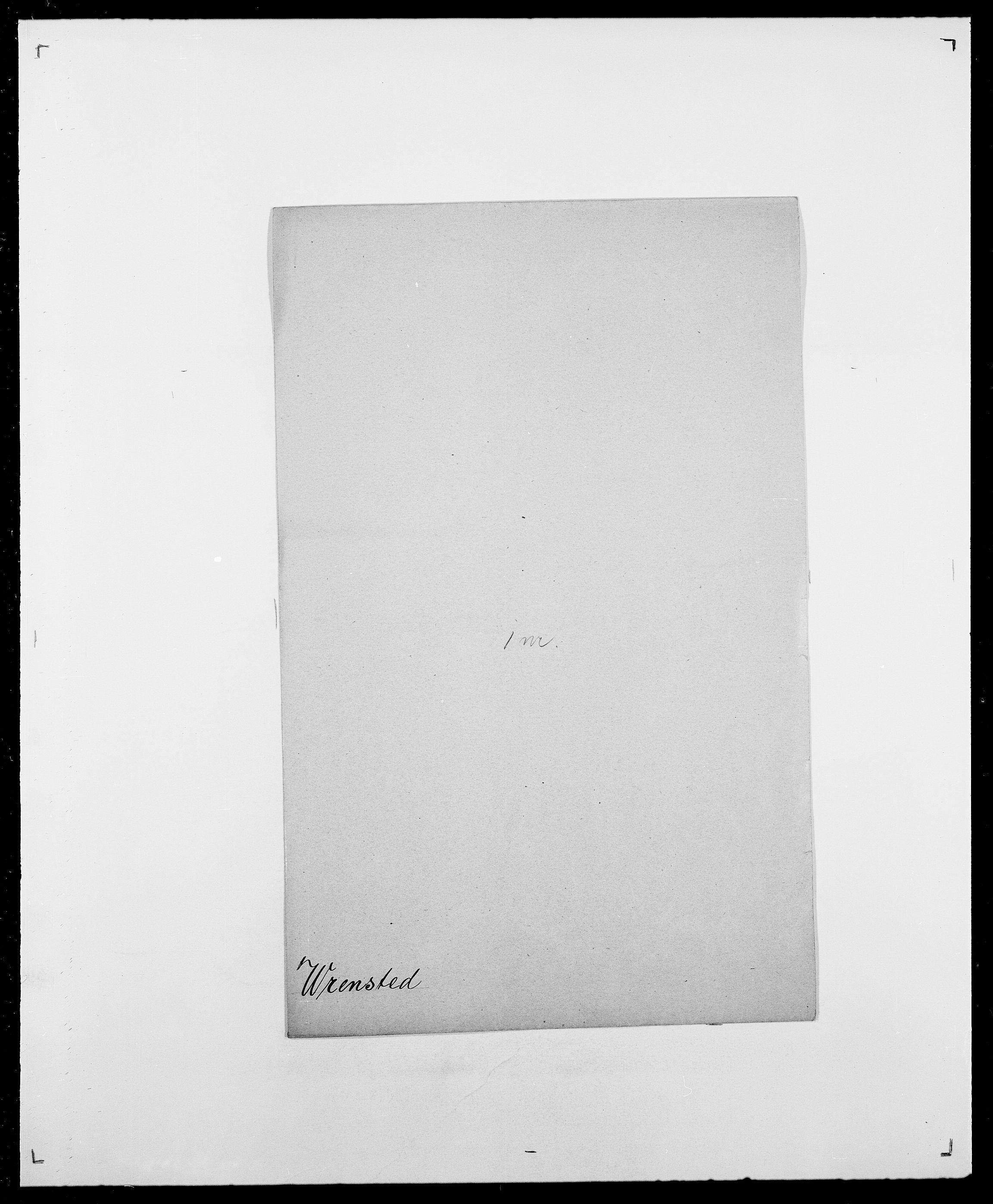 SAO, Delgobe, Charles Antoine - samling, D/Da/L0042: Vilain - Wulf, Wulff, se også Wolf, s. 749