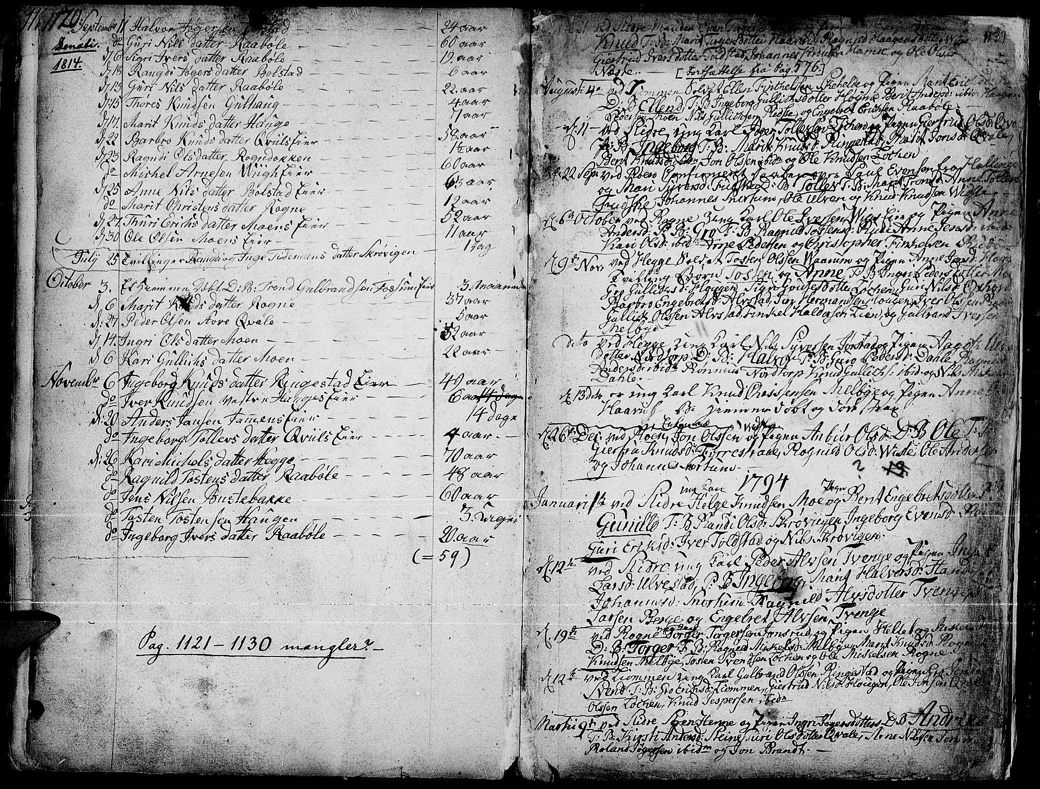 SAH, Slidre prestekontor, Ministerialbok nr. 1, 1724-1814, s. 1120