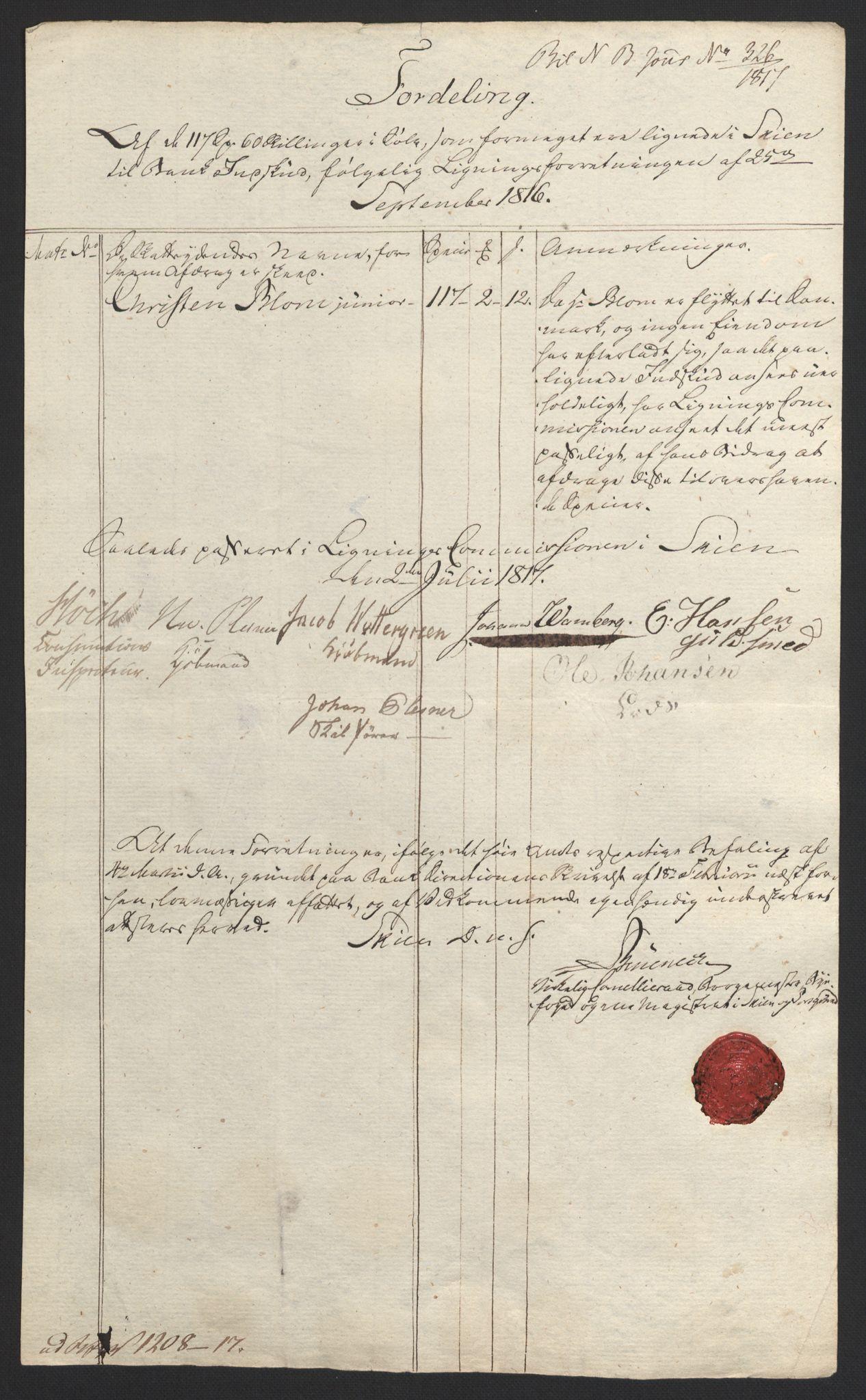 NOBA, Norges Bank/Sølvskatten 1816*, 1816-1823, s. 7