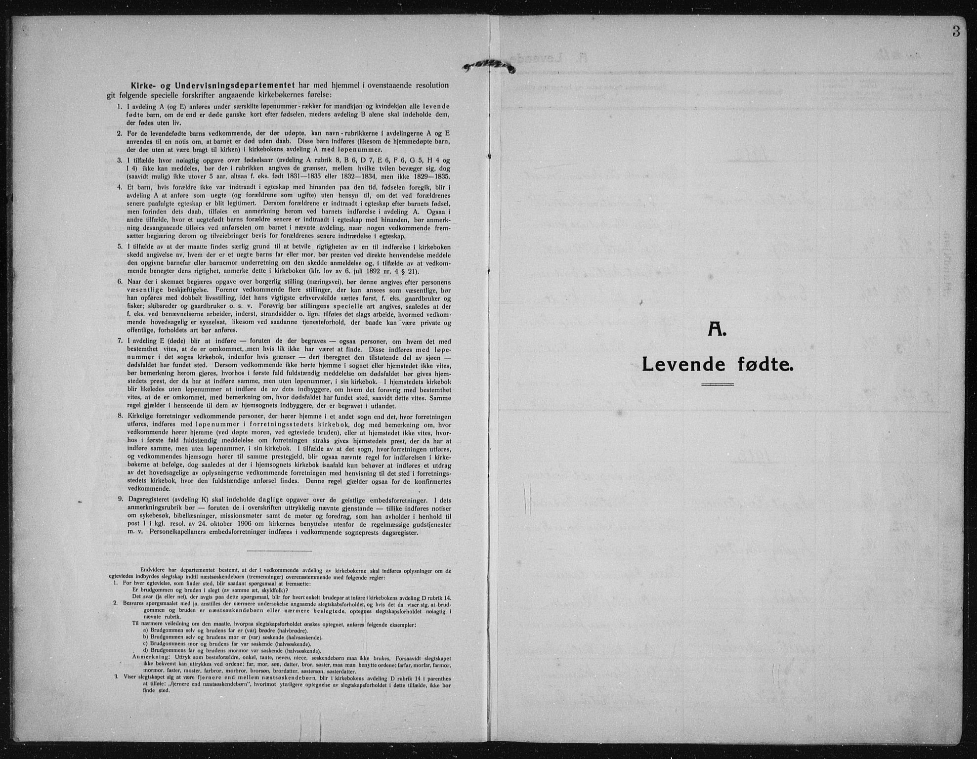 SAST, Torvastad sokneprestkontor, H/Ha/Haa/L0019: Ministerialbok nr. A 18, 1912-1920, s. 3
