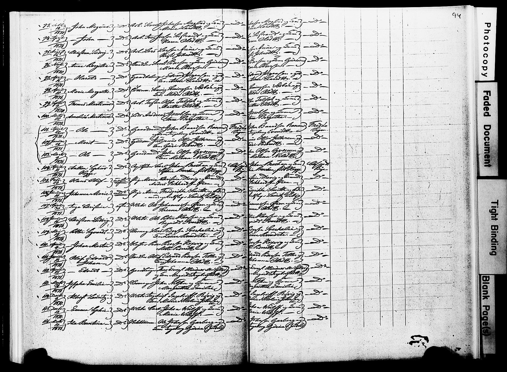 SAT, Ministerialprotokoller, klokkerbøker og fødselsregistre - Møre og Romsdal, 572/L0857: Ministerialbok nr. 572D01, 1866-1872, s. 93-94