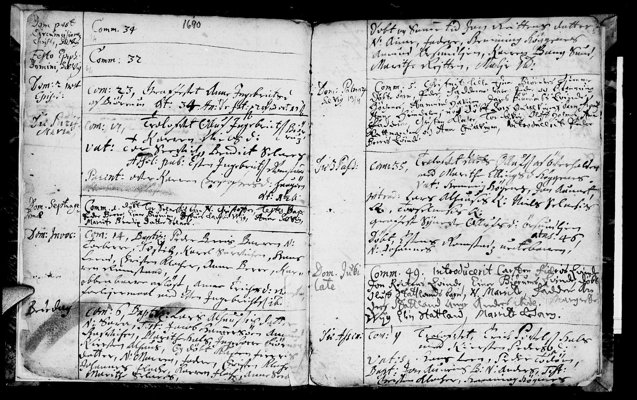 SAT, Ministerialprotokoller, klokkerbøker og fødselsregistre - Nord-Trøndelag, 770/L0587: Ministerialbok nr. 770A01, 1689-1697, s. 4-5