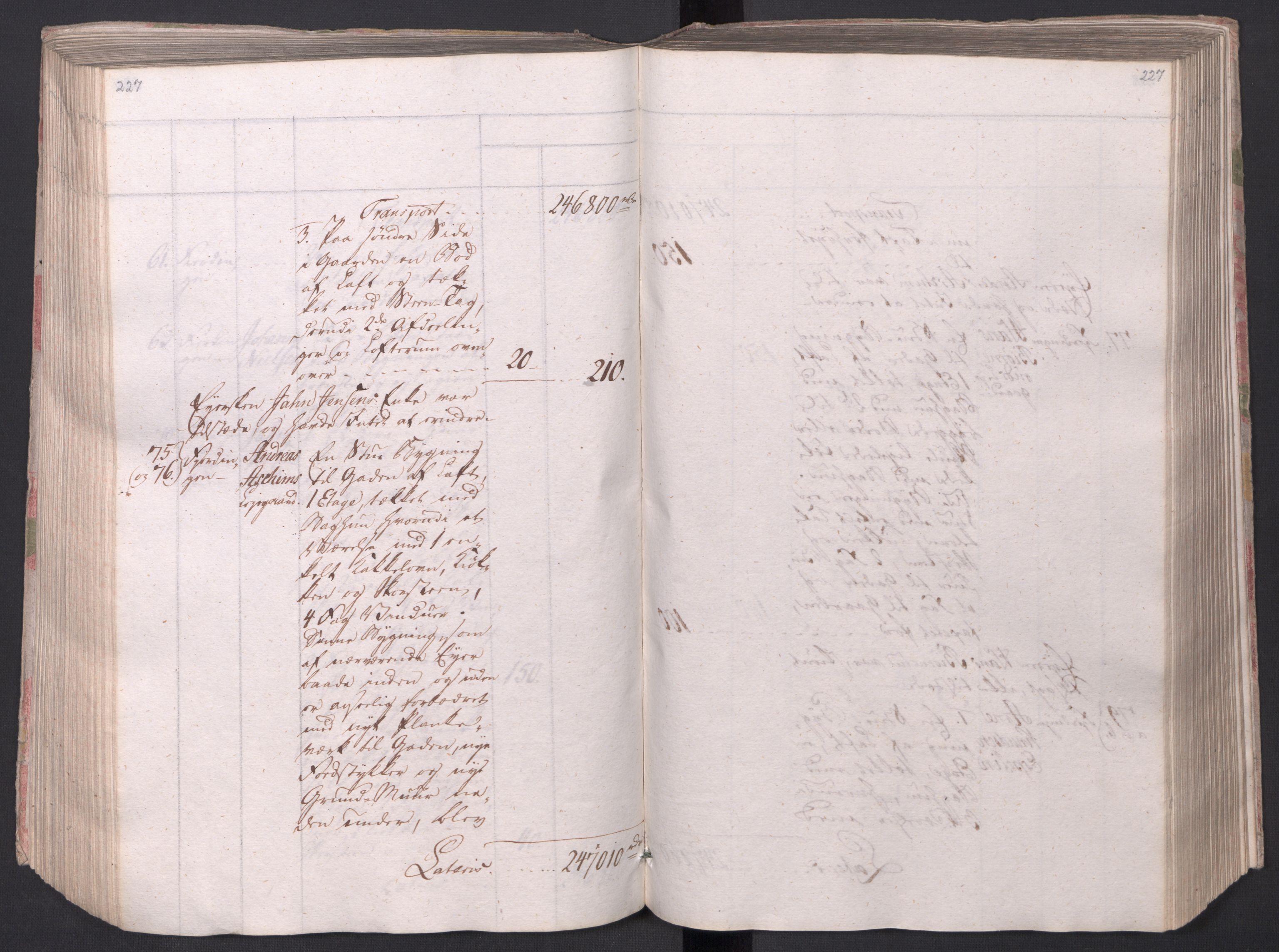 SAO, Kristiania stiftamt, I/Ia/L0015: Branntakster, 1797, s. 227