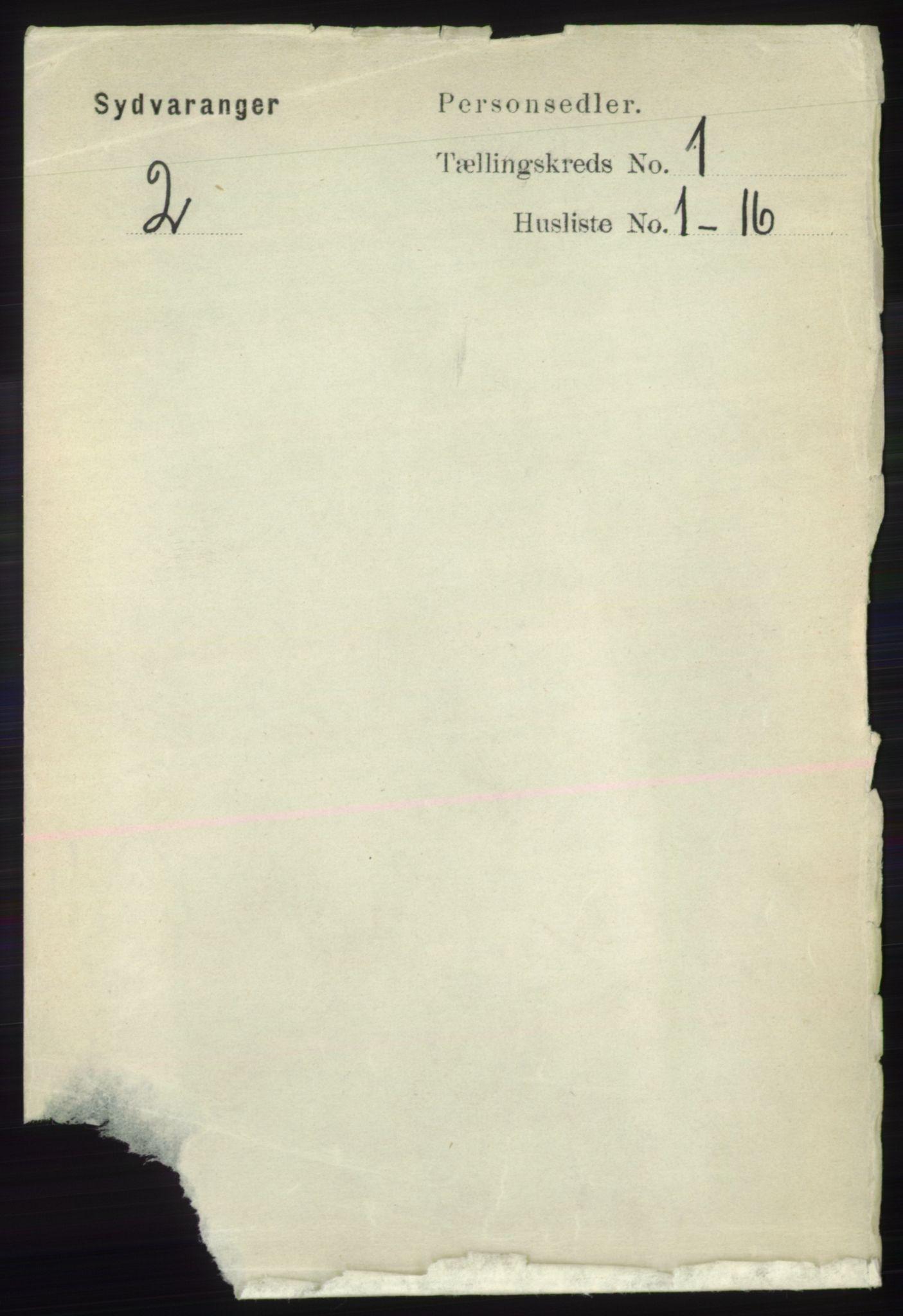 RA, Folketelling 1891 for 2030 Sør-Varanger herred, 1891, s. 61