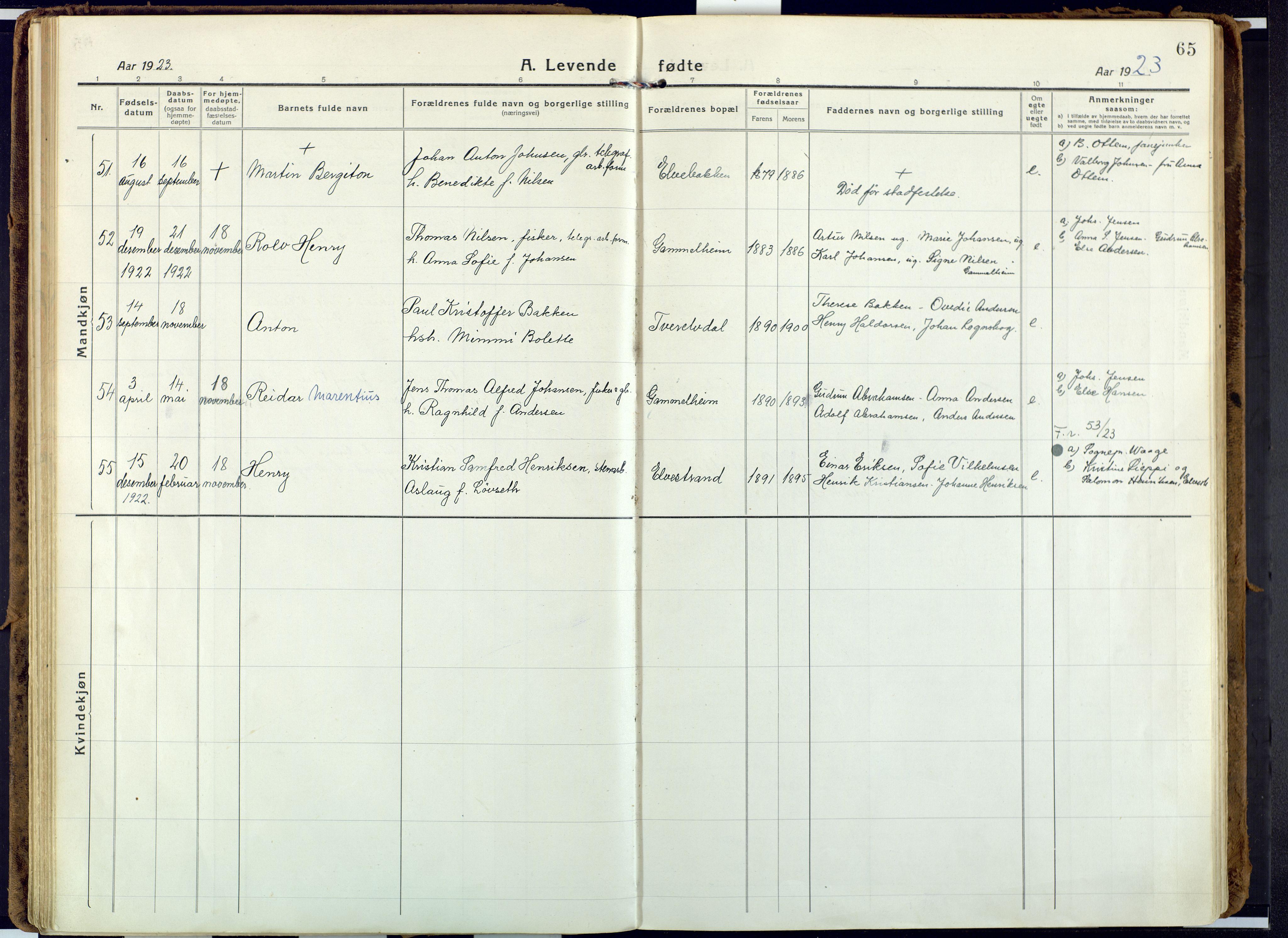 SATØ, Alta sokneprestkontor, H/Ha: Ministerialbok nr. 6, 1918-1931, s. 65