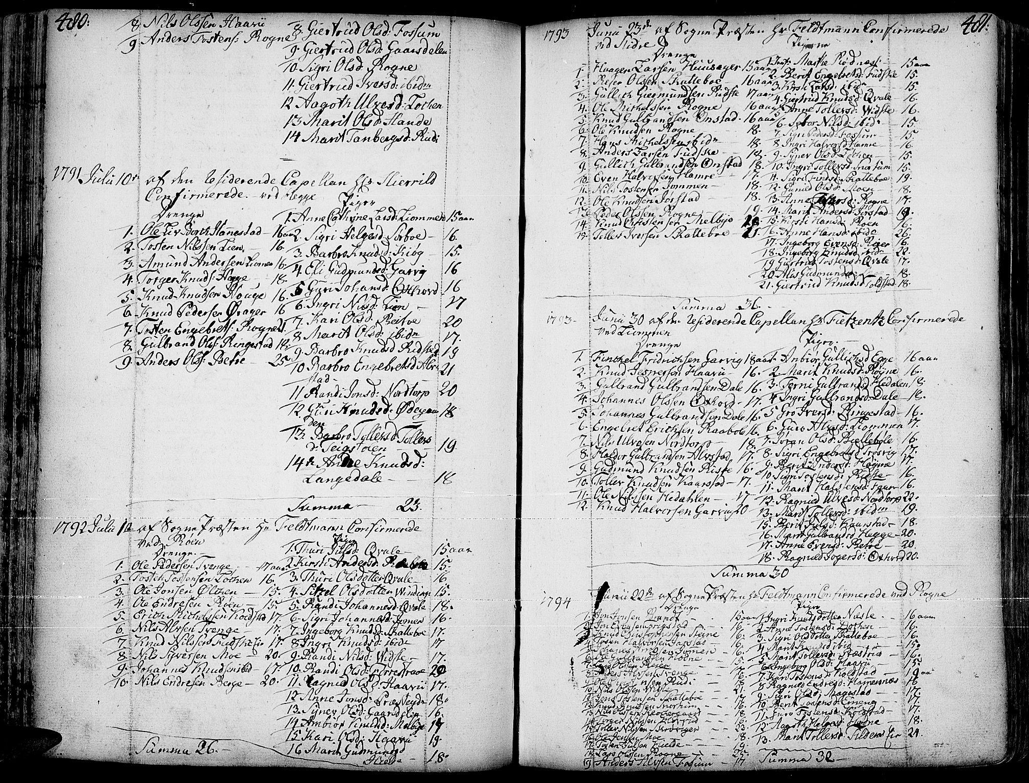 SAH, Slidre prestekontor, Ministerialbok nr. 1, 1724-1814, s. 480-481