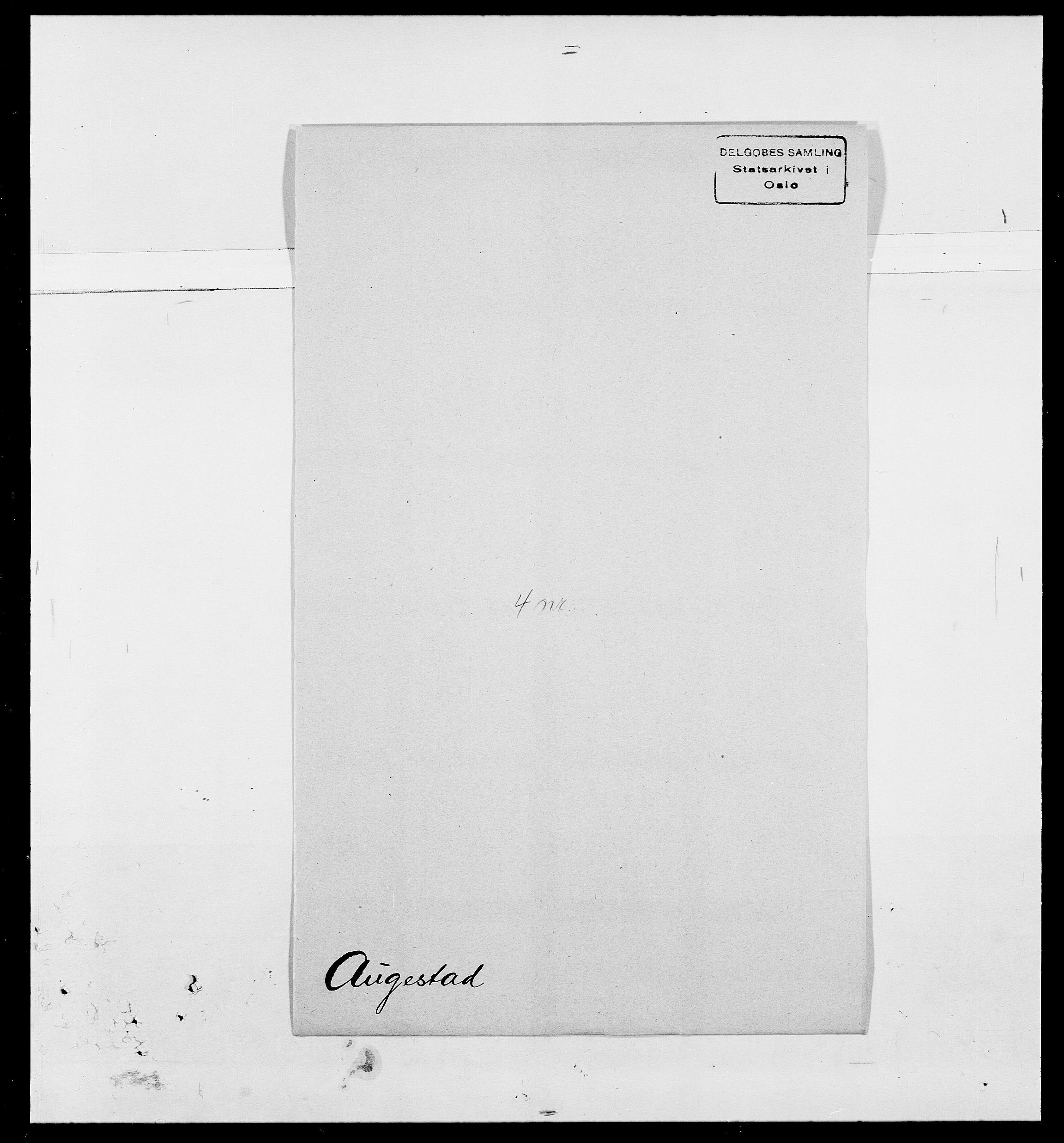 SAO, Delgobe, Charles Antoine - samling, D/Da/L0002: Anker, Ancher - Bauner, s. 506