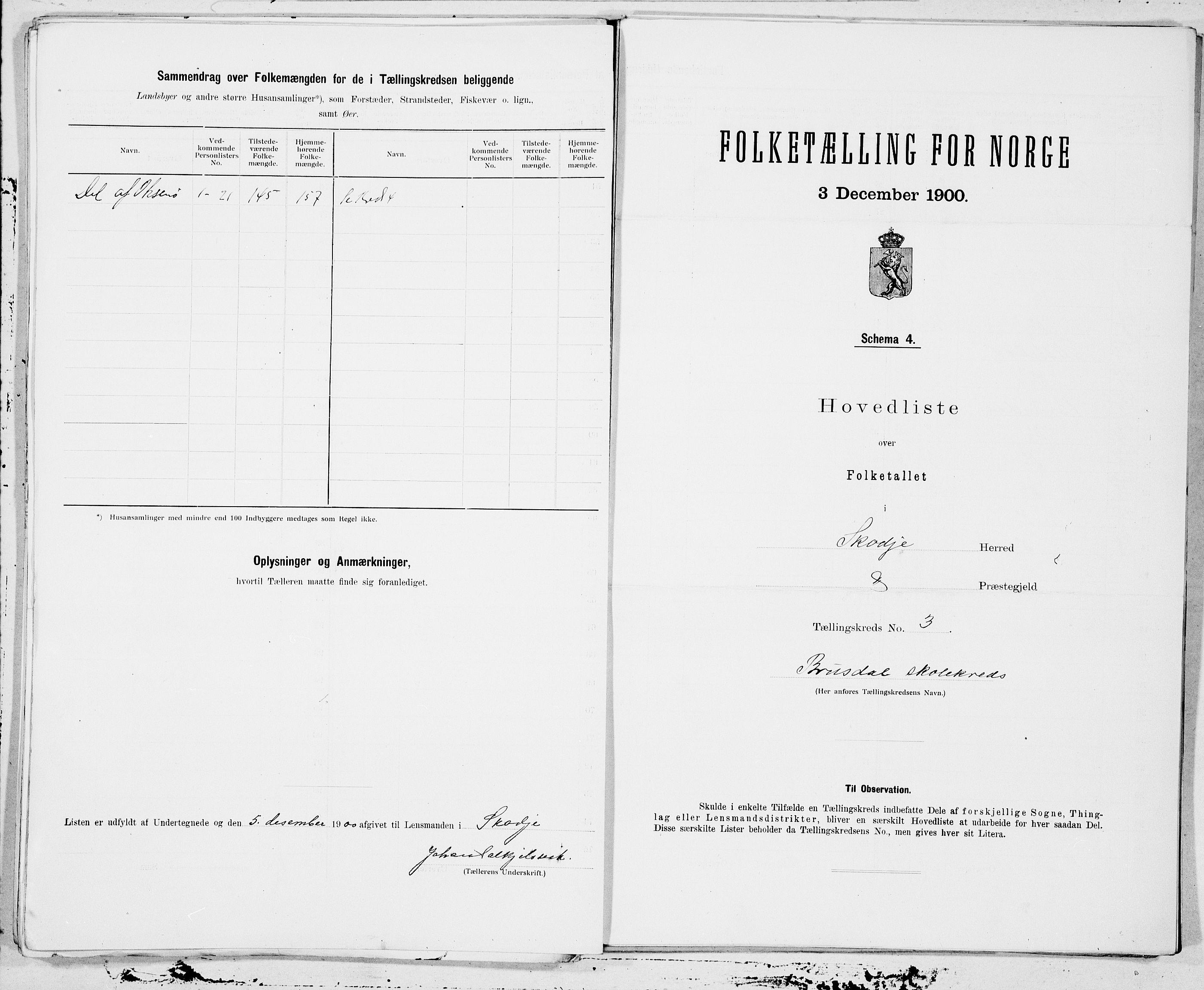 SAT, Folketelling 1900 for 1529 Skodje herred, 1900, s. 6