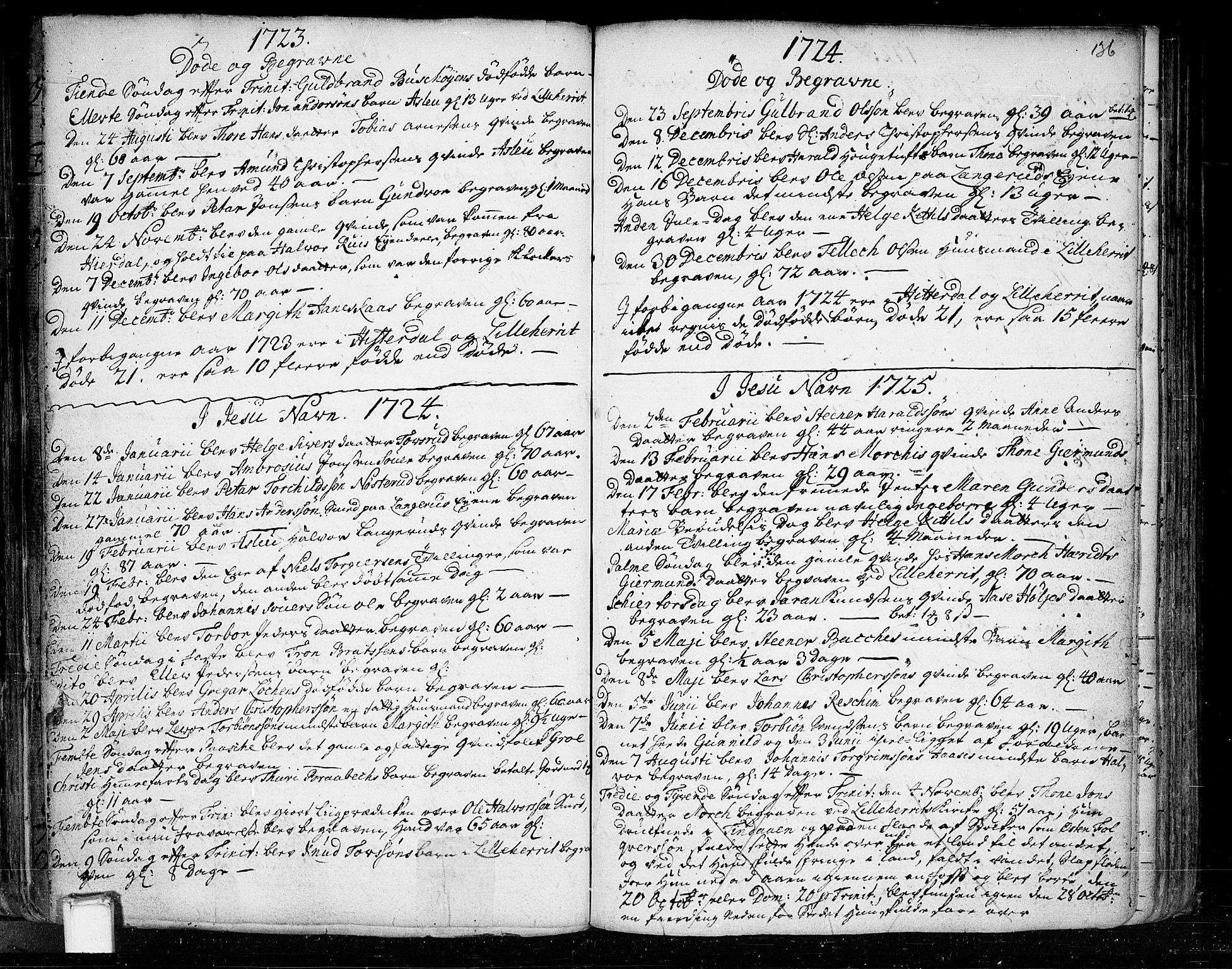 SAKO, Heddal kirkebøker, F/Fa/L0003: Ministerialbok nr. I 3, 1723-1783, s. 136