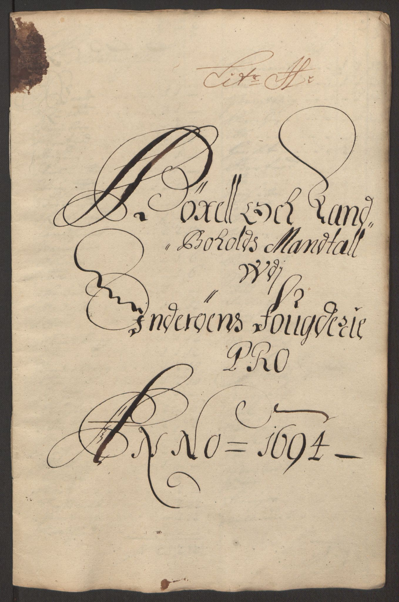 RA, Rentekammeret inntil 1814, Reviderte regnskaper, Fogderegnskap, R63/L4308: Fogderegnskap Inderøy, 1692-1694, s. 604