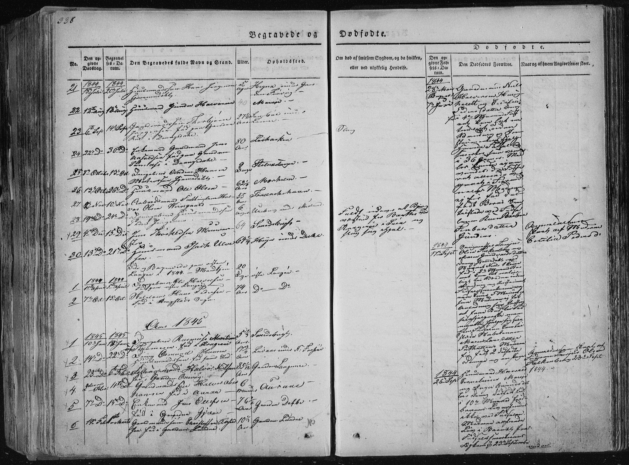 SAKO, Sannidal kirkebøker, F/Fa/L0006: Ministerialbok nr. 6, 1831-1847, s. 338