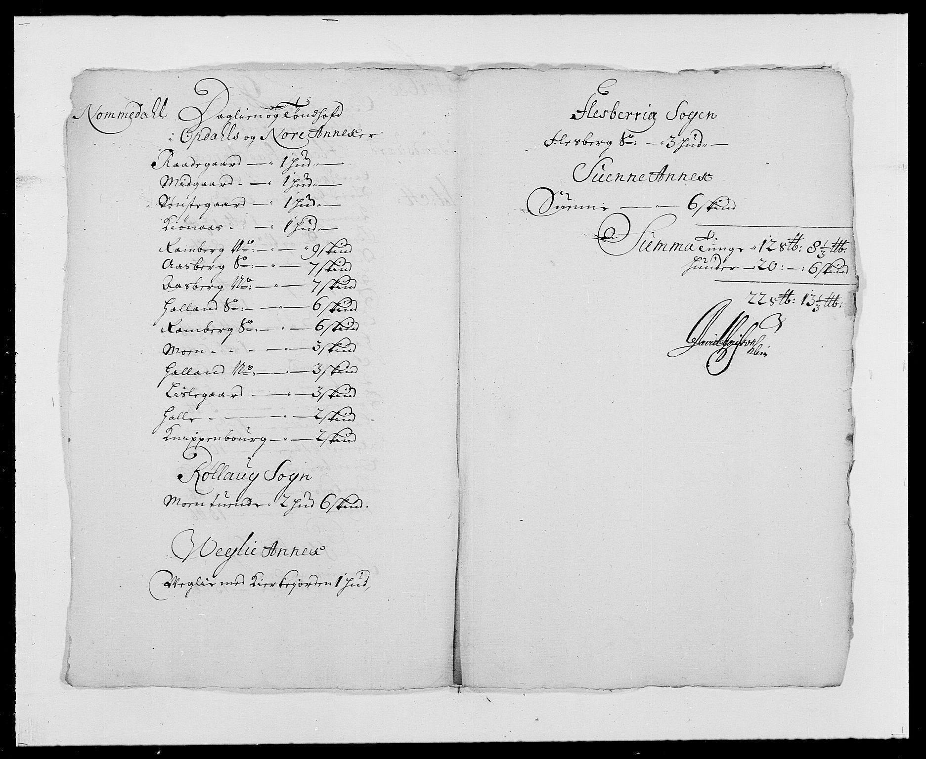 RA, Rentekammeret inntil 1814, Reviderte regnskaper, Fogderegnskap, R24/L1573: Fogderegnskap Numedal og Sandsvær, 1687-1691, s. 299