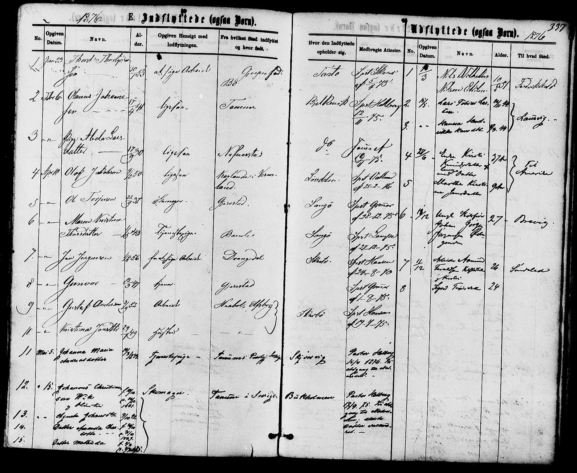SAKO, Skåtøy kirkebøker, F/Fa/L0001: Ministerialbok nr. I 1, 1874-1883, s. 337