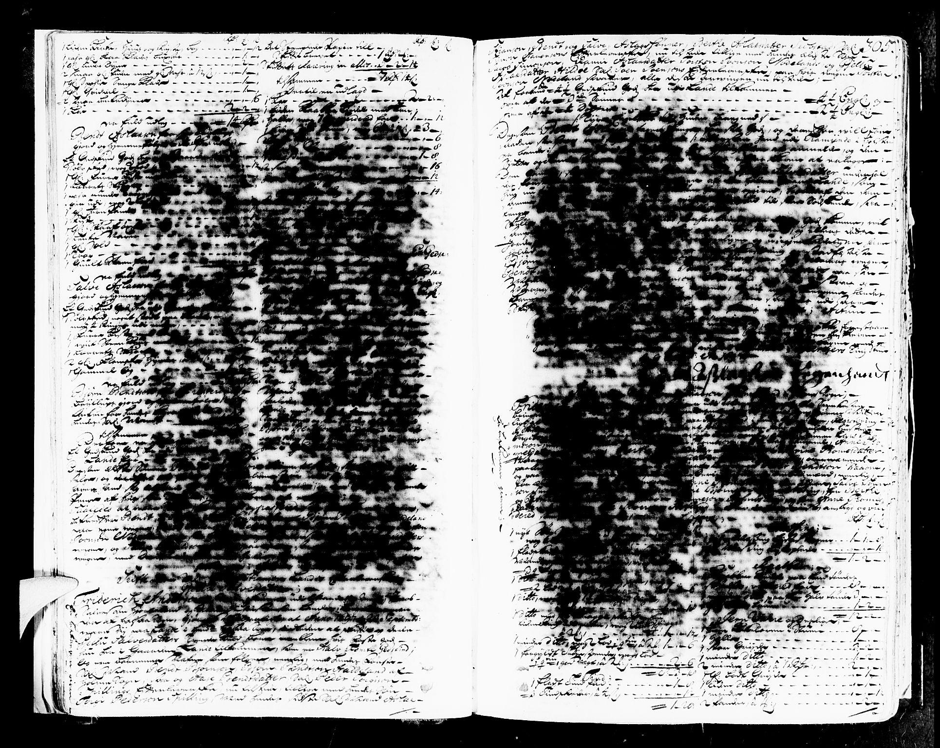 SAK, Mandal sorenskriveri, H/Hc/L0008: Skifteprotokoll med register, original i eske nr 4a, 1693-1702, s. 304b-305a