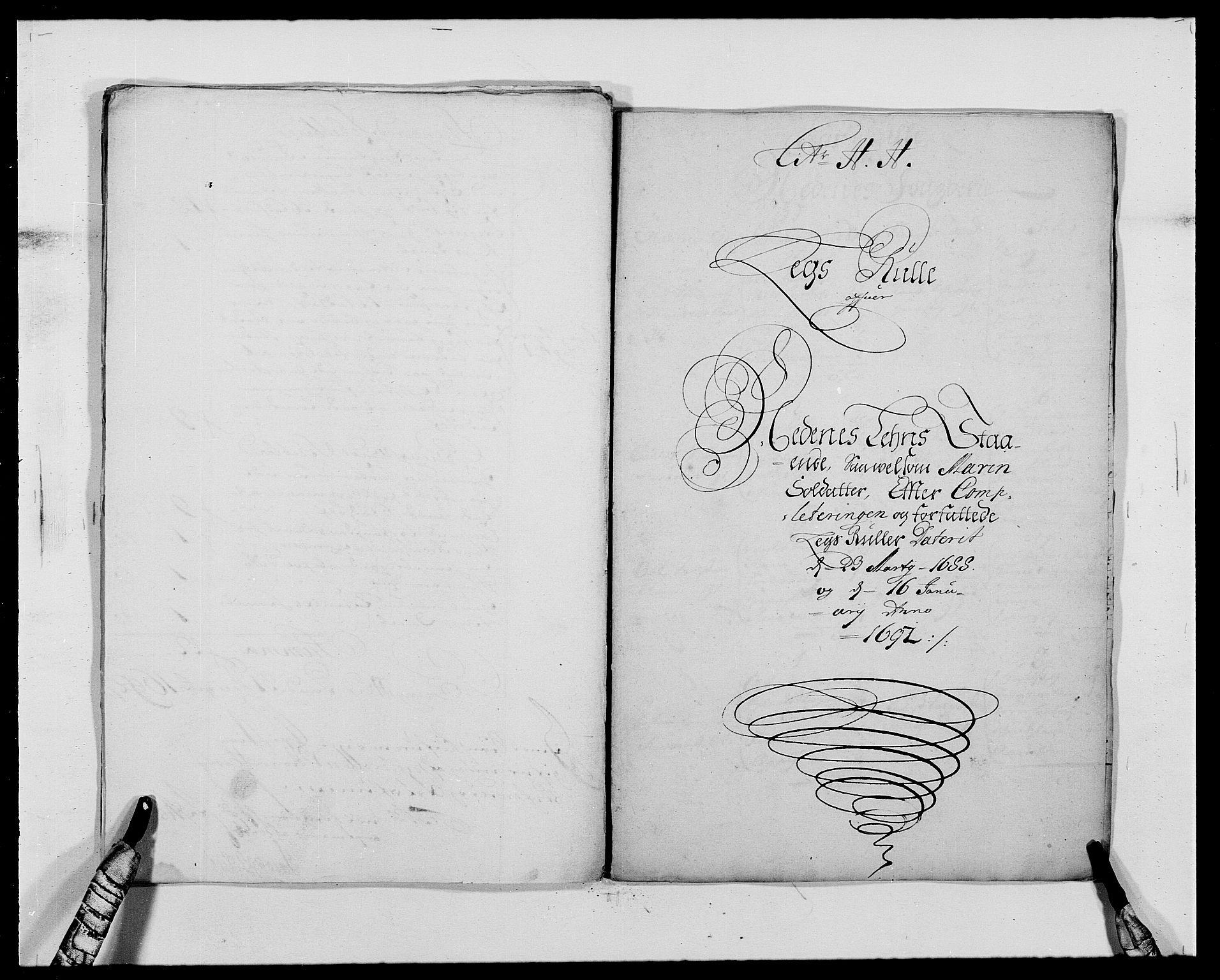 RA, Rentekammeret inntil 1814, Reviderte regnskaper, Fogderegnskap, R39/L2311: Fogderegnskap Nedenes, 1690-1692, s. 215