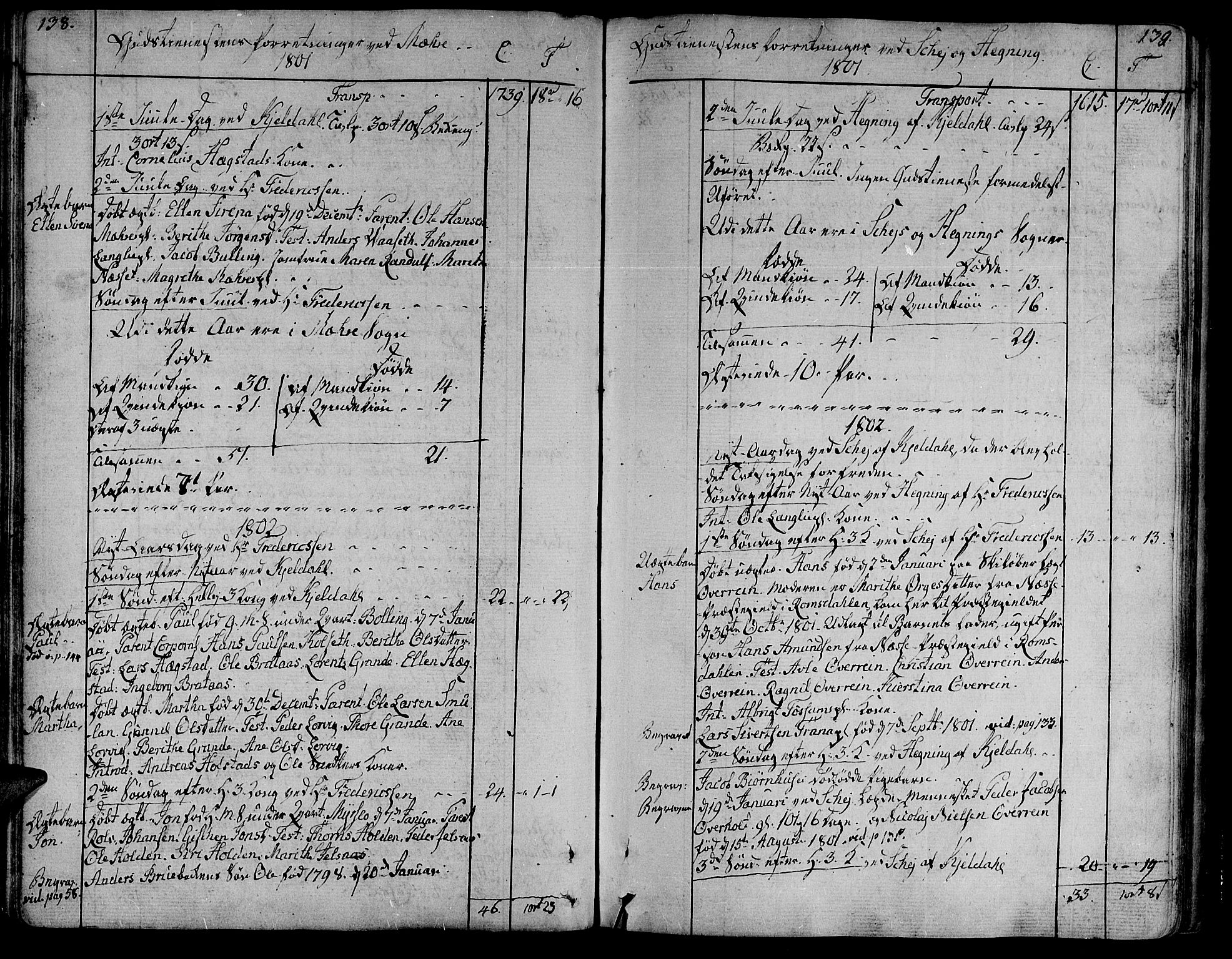 SAT, Ministerialprotokoller, klokkerbøker og fødselsregistre - Nord-Trøndelag, 735/L0332: Ministerialbok nr. 735A03, 1795-1816, s. 138-139