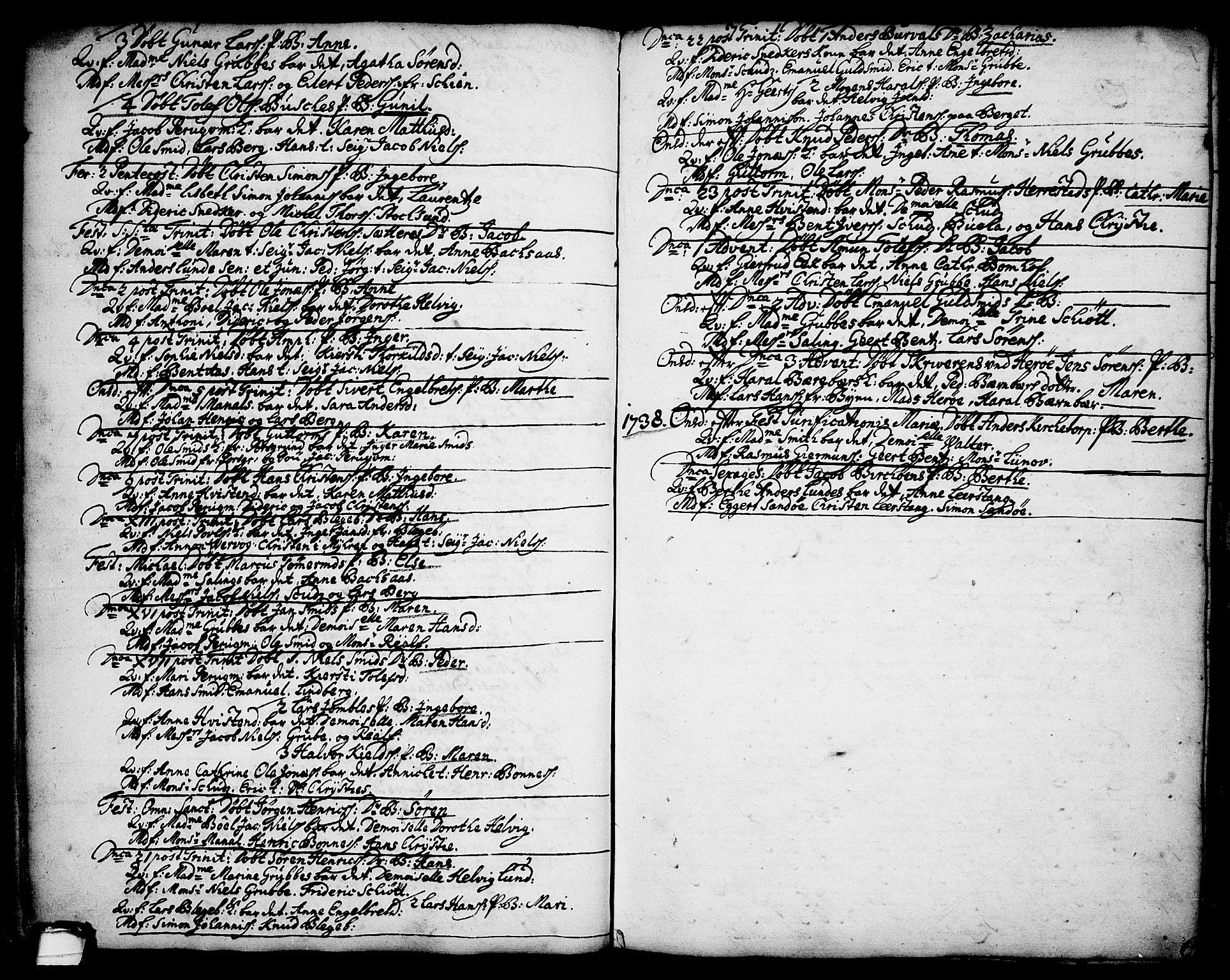 SAKO, Brevik kirkebøker, F/Fa/L0002: Ministerialbok nr. 2, 1720-1764, s. 34h