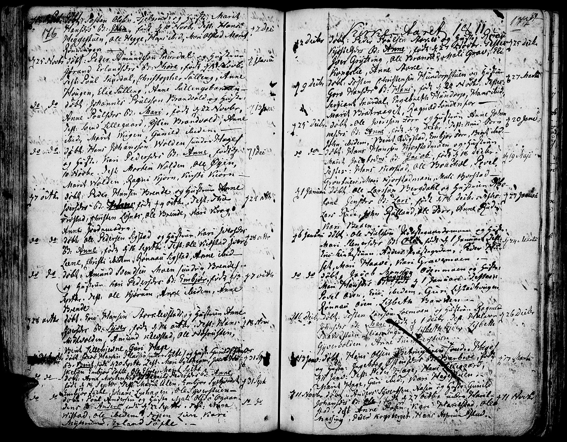 SAH, Fron prestekontor, H/Ha/Haa/L0001: Ministerialbok nr. 1, 1799-1816, s. 176-177