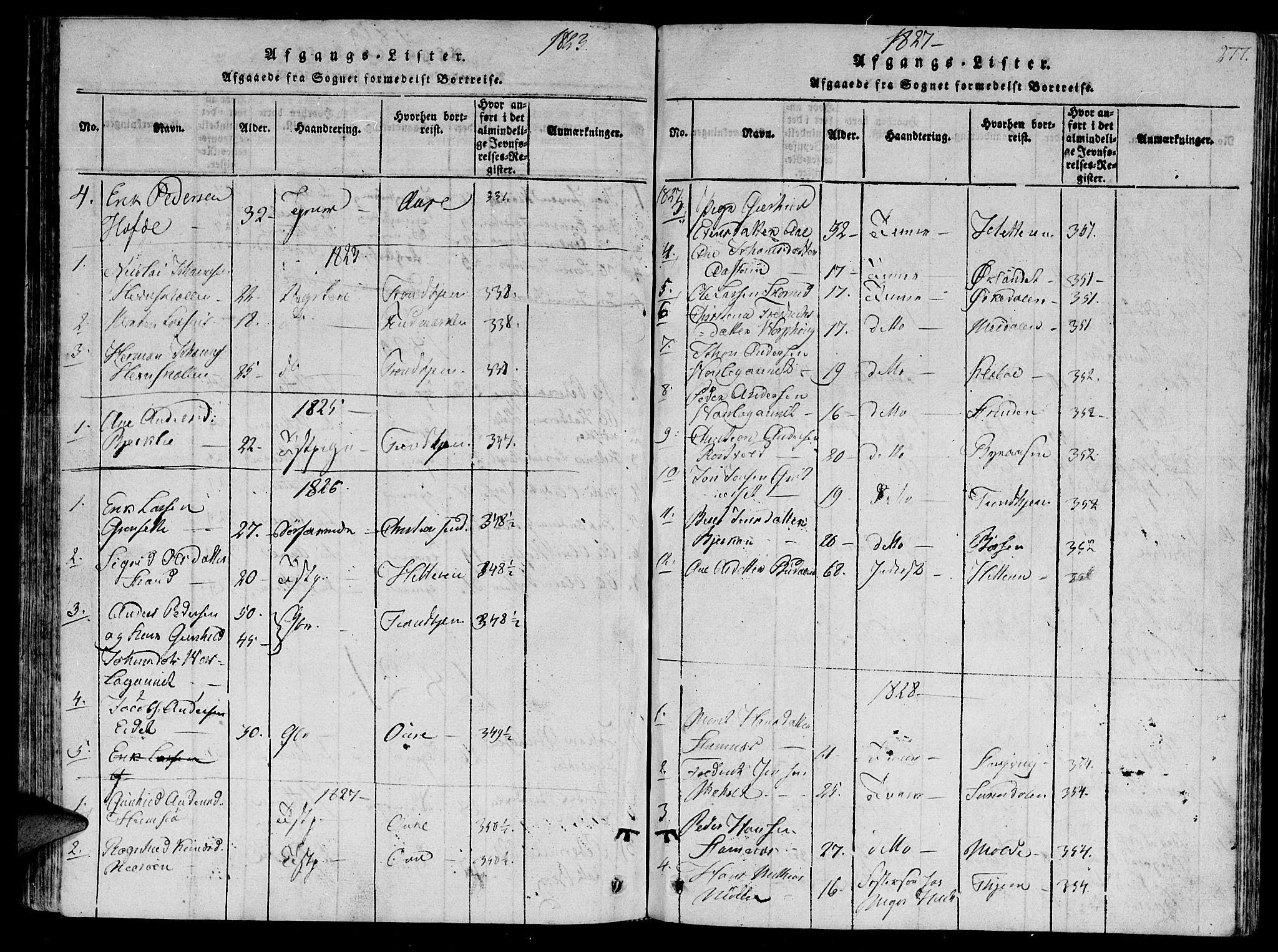 SAT, Ministerialprotokoller, klokkerbøker og fødselsregistre - Sør-Trøndelag, 630/L0491: Ministerialbok nr. 630A04, 1818-1830, s. 277