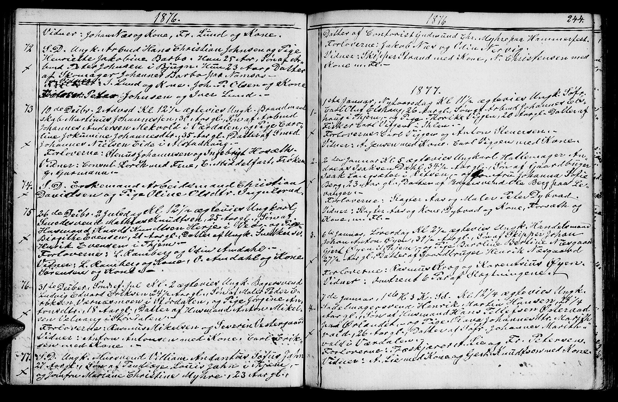 SAT, Ministerialprotokoller, klokkerbøker og fødselsregistre - Sør-Trøndelag, 602/L0142: Klokkerbok nr. 602C10, 1872-1894, s. 244