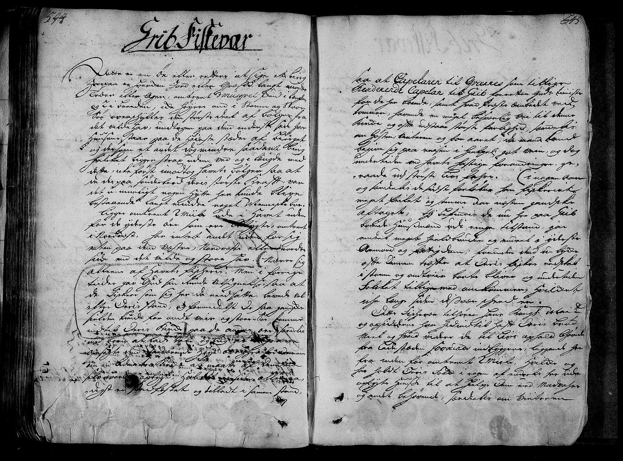 RA, Rentekammeret inntil 1814, Realistisk ordnet avdeling, N/Nb/Nbf/L0154: Nordmøre eksaminasjonsprotokoll, 1721-1723, s. 544-545