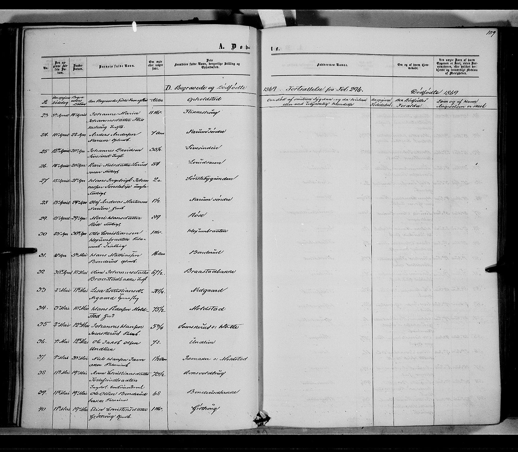 SAH, Vestre Toten prestekontor, Ministerialbok nr. 7, 1862-1869, s. 109
