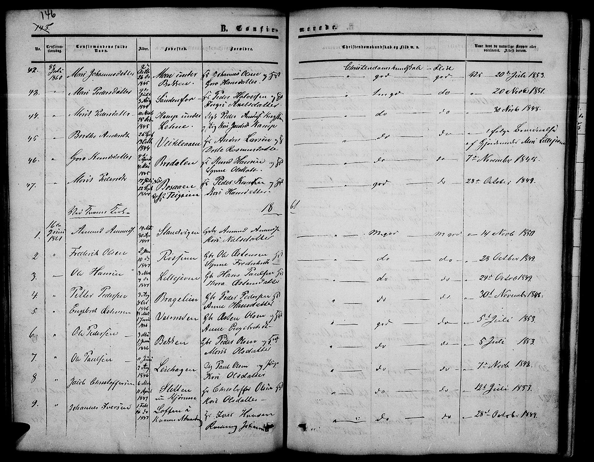 SAH, Nord-Fron prestekontor, Klokkerbok nr. 3, 1851-1886, s. 146