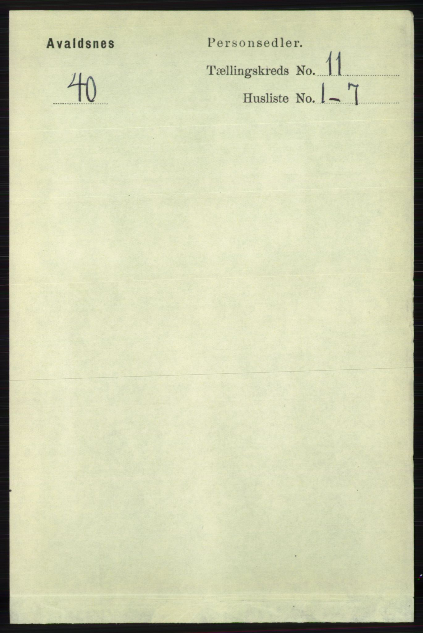 RA, Folketelling 1891 for 1147 Avaldsnes herred, 1891, s. 6199