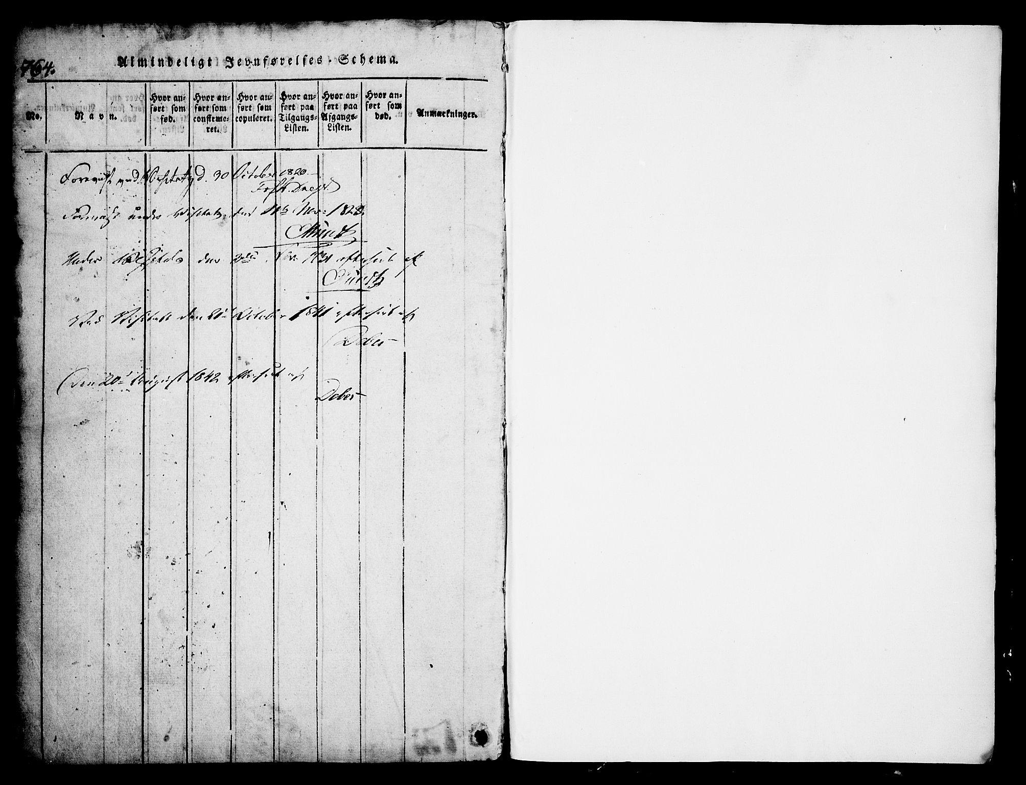 SAKO, Skien kirkebøker, G/Ga/L0002: Klokkerbok nr. 2, 1814-1842, s. 764-765