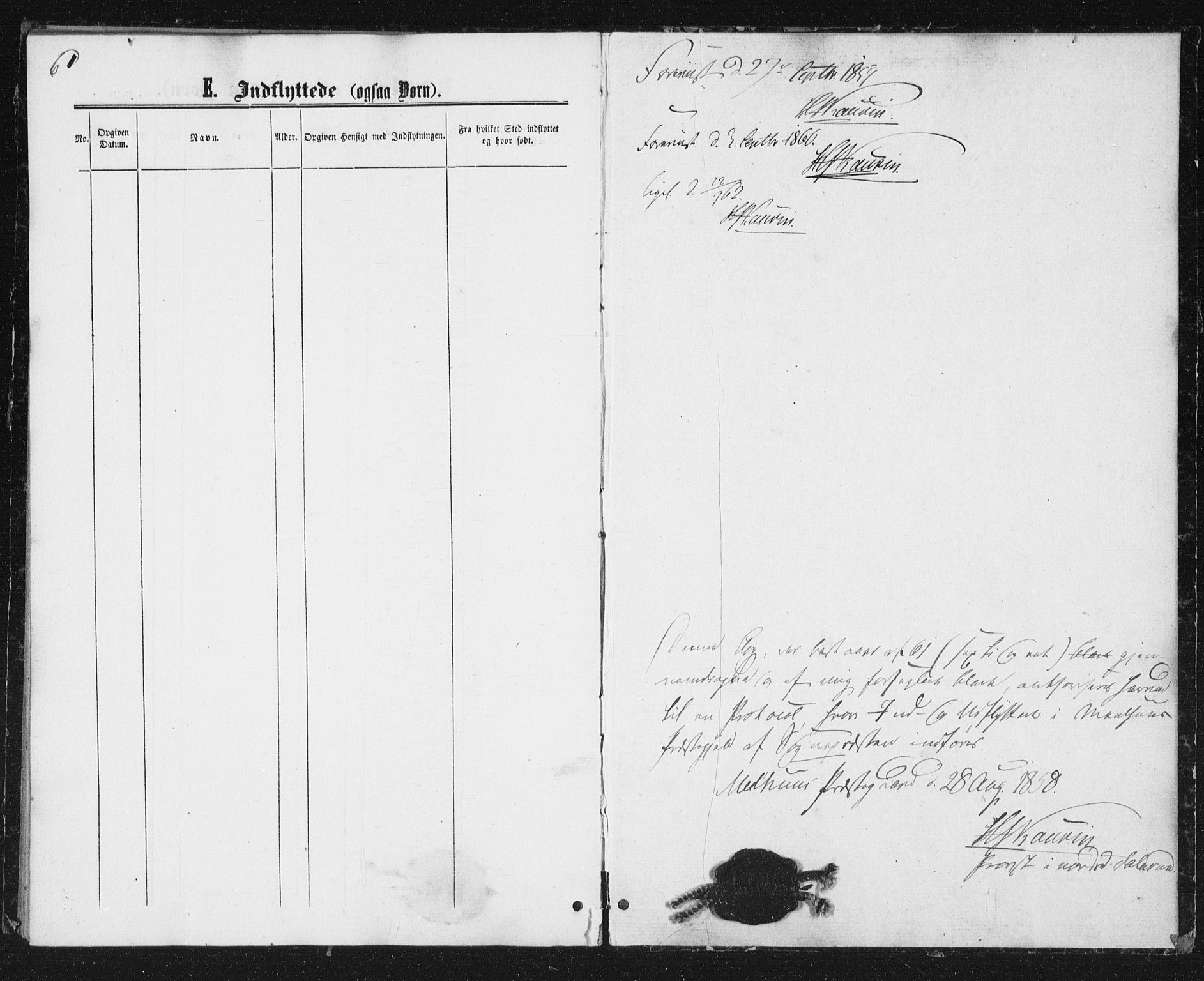 SAT, Ministerialprotokoller, klokkerbøker og fødselsregistre - Sør-Trøndelag, 691/L1078: Ministerialbok nr. 691A10, 1858-1861