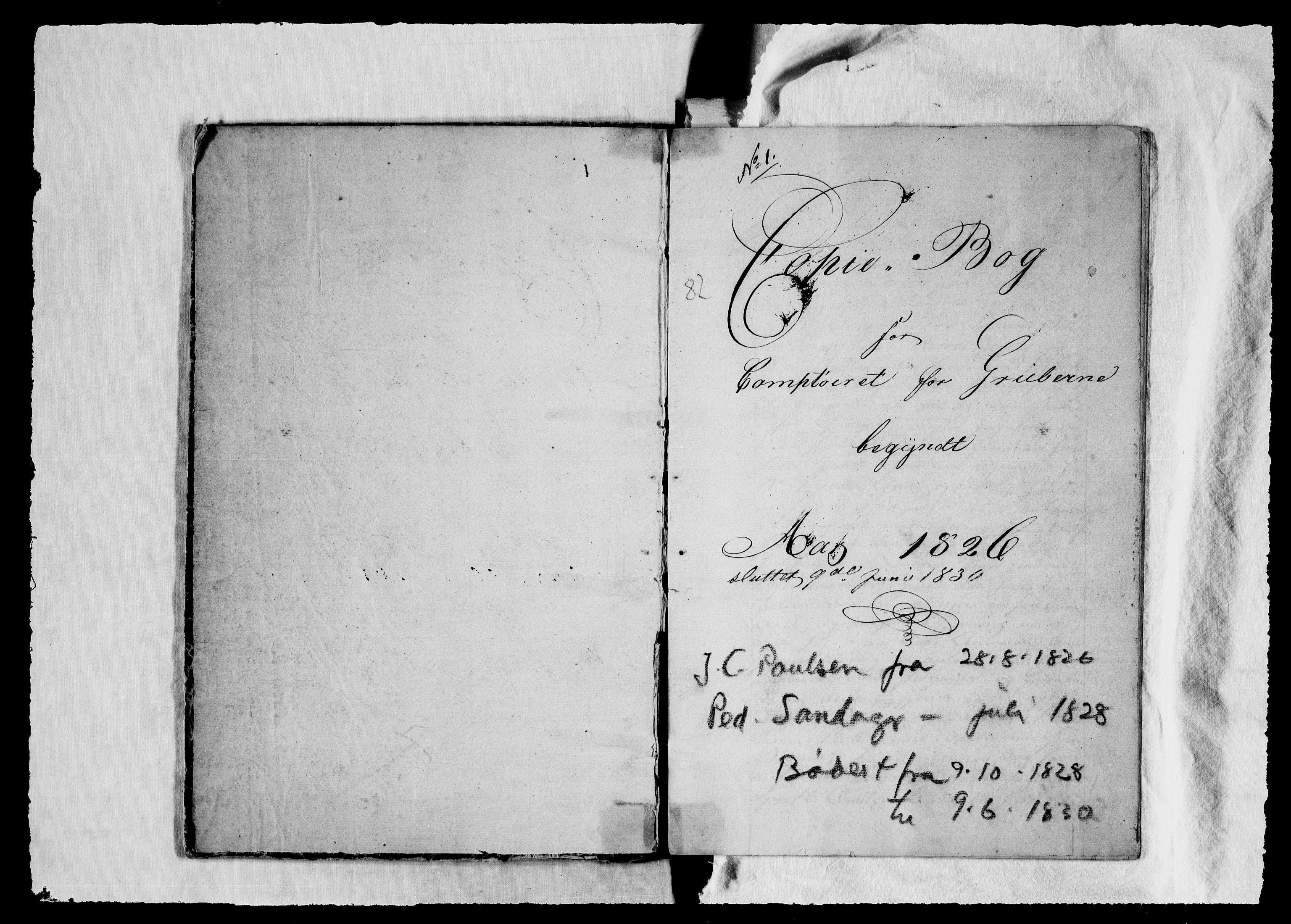 RA, Modums Blaafarveværk, G/Gb/L0082, 1826-1830, s. 2