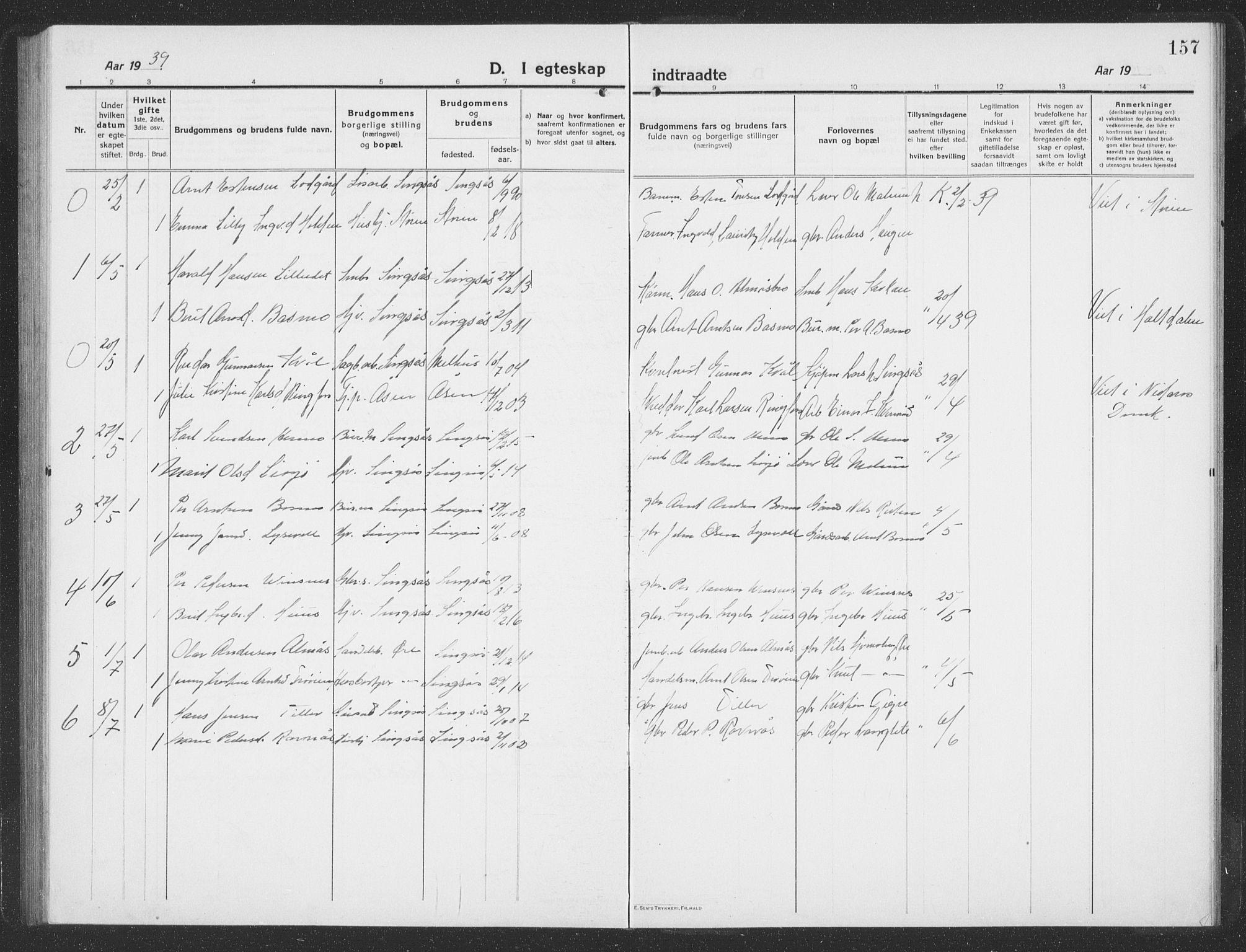 SAT, Ministerialprotokoller, klokkerbøker og fødselsregistre - Sør-Trøndelag, 688/L1030: Klokkerbok nr. 688C05, 1916-1939, s. 157