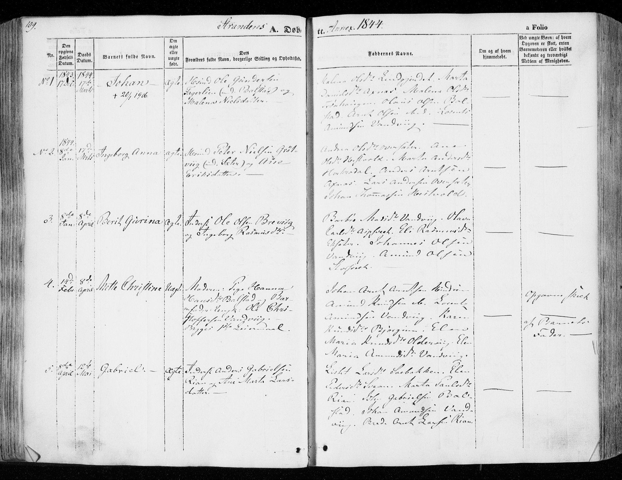 SAT, Ministerialprotokoller, klokkerbøker og fødselsregistre - Nord-Trøndelag, 701/L0007: Ministerialbok nr. 701A07 /2, 1842-1854, s. 109