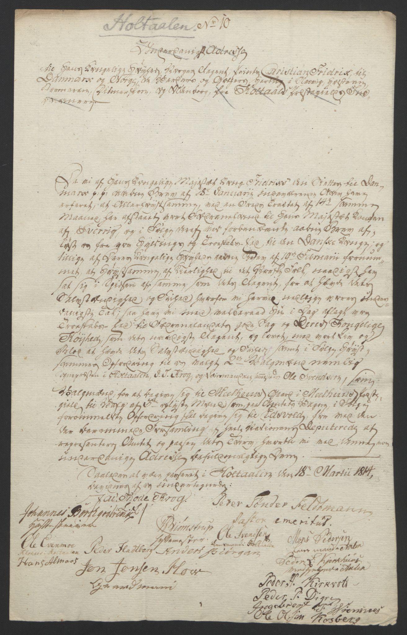 RA, Statsrådssekretariatet, D/Db/L0008: Fullmakter for Eidsvollsrepresentantene i 1814. , 1814, s. 437