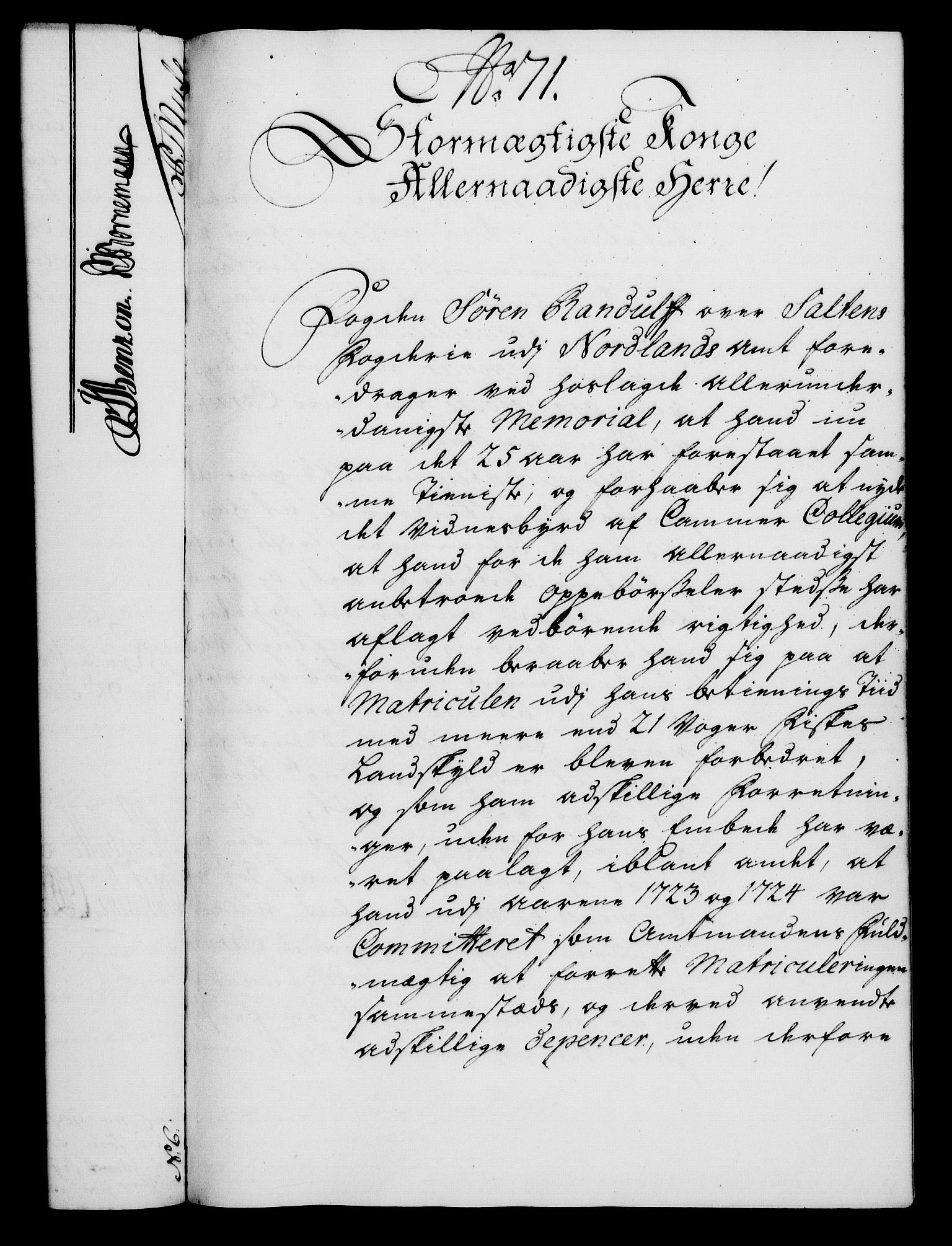 RA, Rentekammeret, Kammerkanselliet, G/Gf/Gfa/L0022: Norsk relasjons- og resolusjonsprotokoll (merket RK 52.22), 1739, s. 564