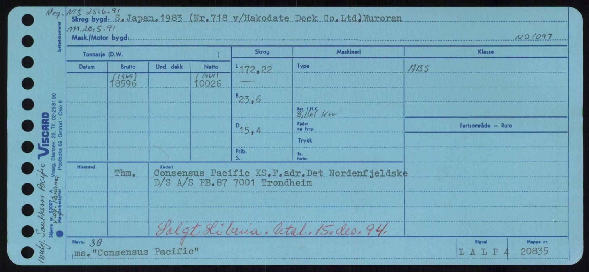 RA, Sjøfartsdirektoratet med forløpere, Skipsmålingen, H/Hd/L0008: Fartøy, C-D, s. 139