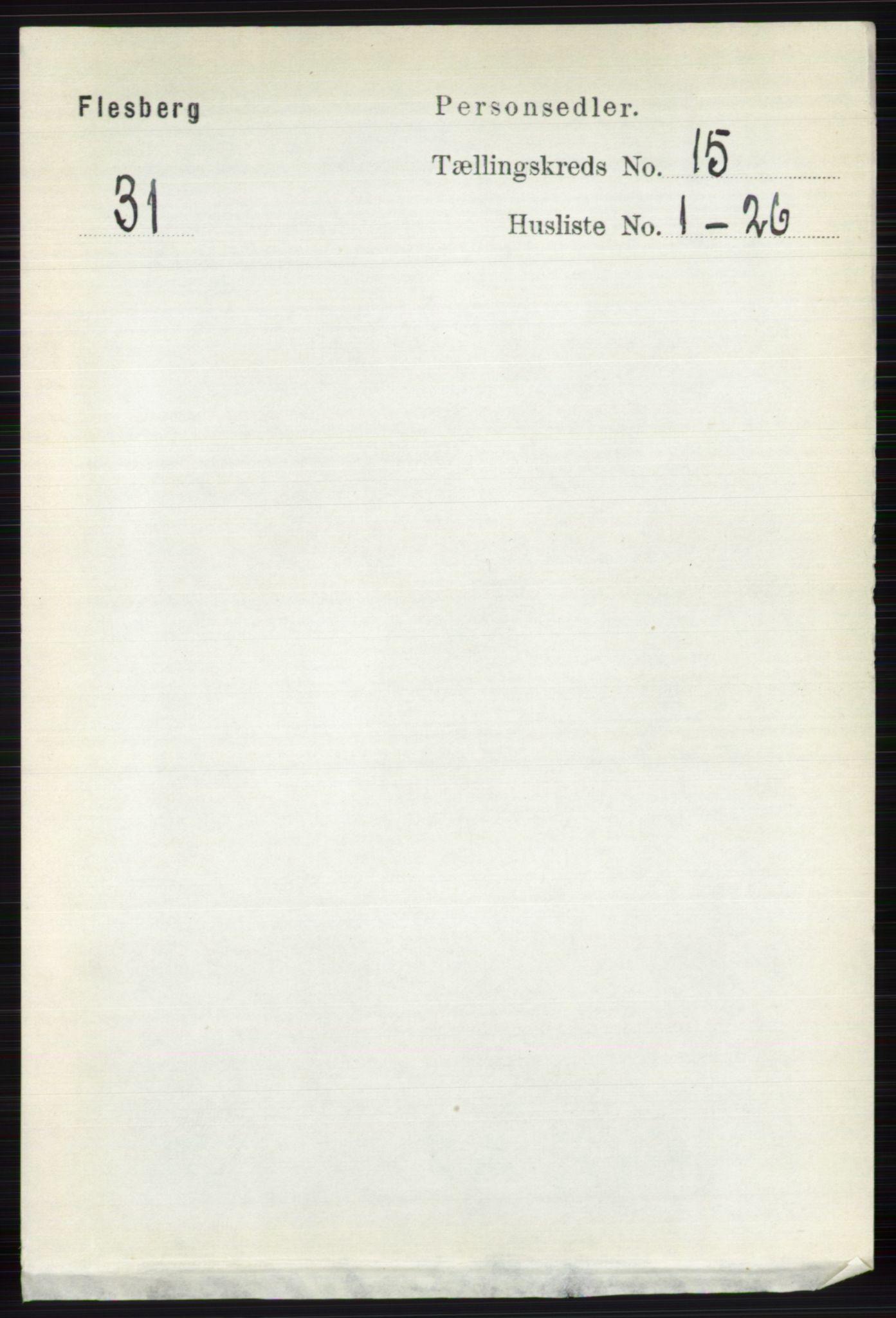 RA, Folketelling 1891 for 0631 Flesberg herred, 1891, s. 2692