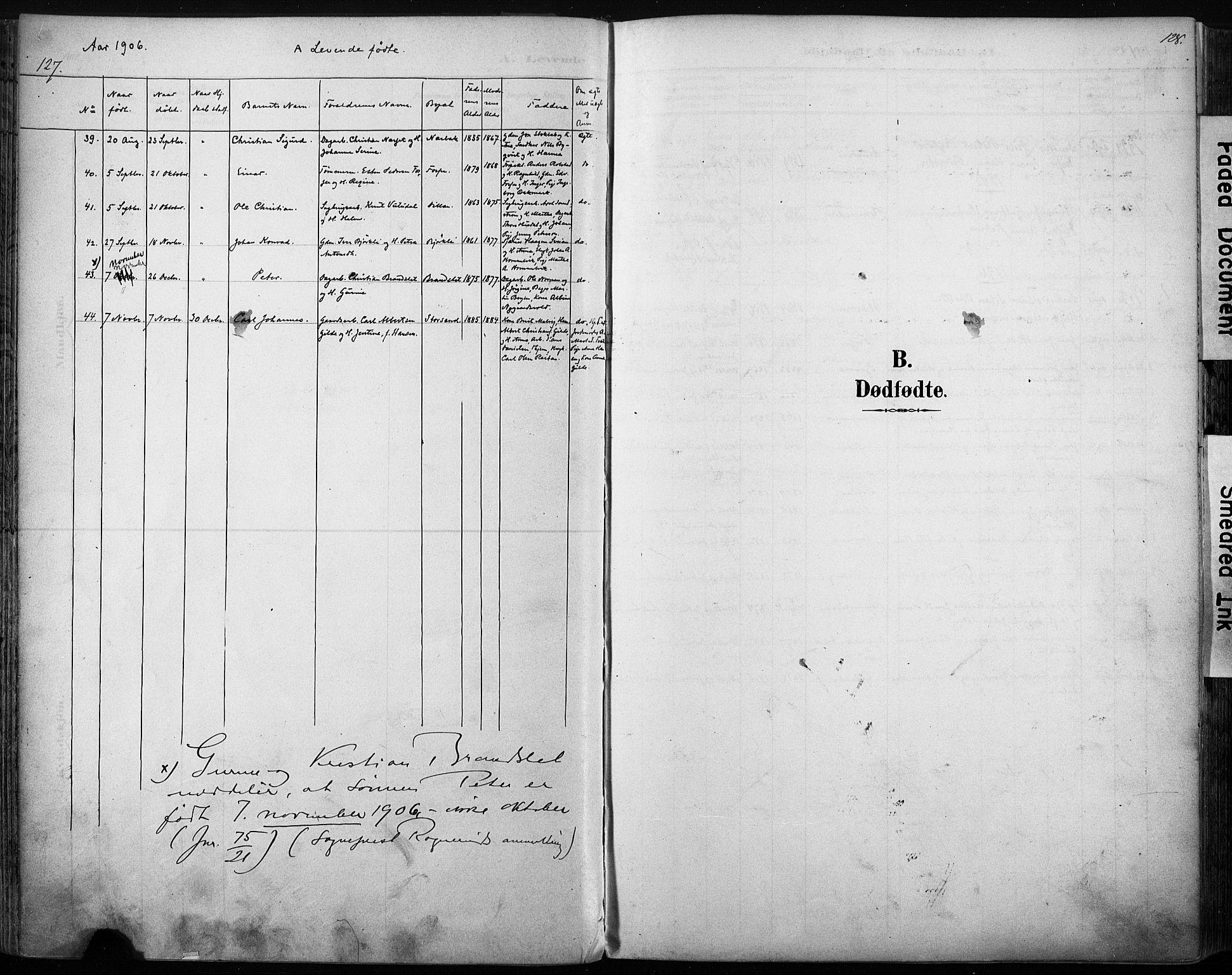 SAT, Ministerialprotokoller, klokkerbøker og fødselsregistre - Sør-Trøndelag, 616/L0411: Ministerialbok nr. 616A08, 1894-1906, s. 127-128