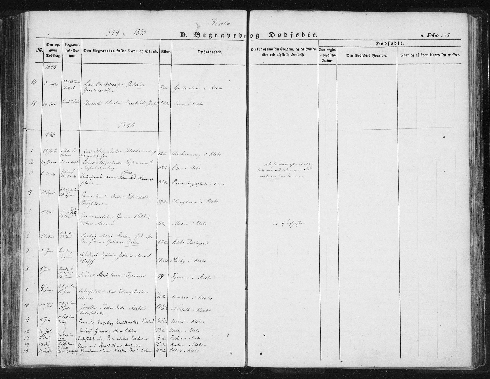 SAT, Ministerialprotokoller, klokkerbøker og fødselsregistre - Sør-Trøndelag, 618/L0441: Ministerialbok nr. 618A05, 1843-1862, s. 228