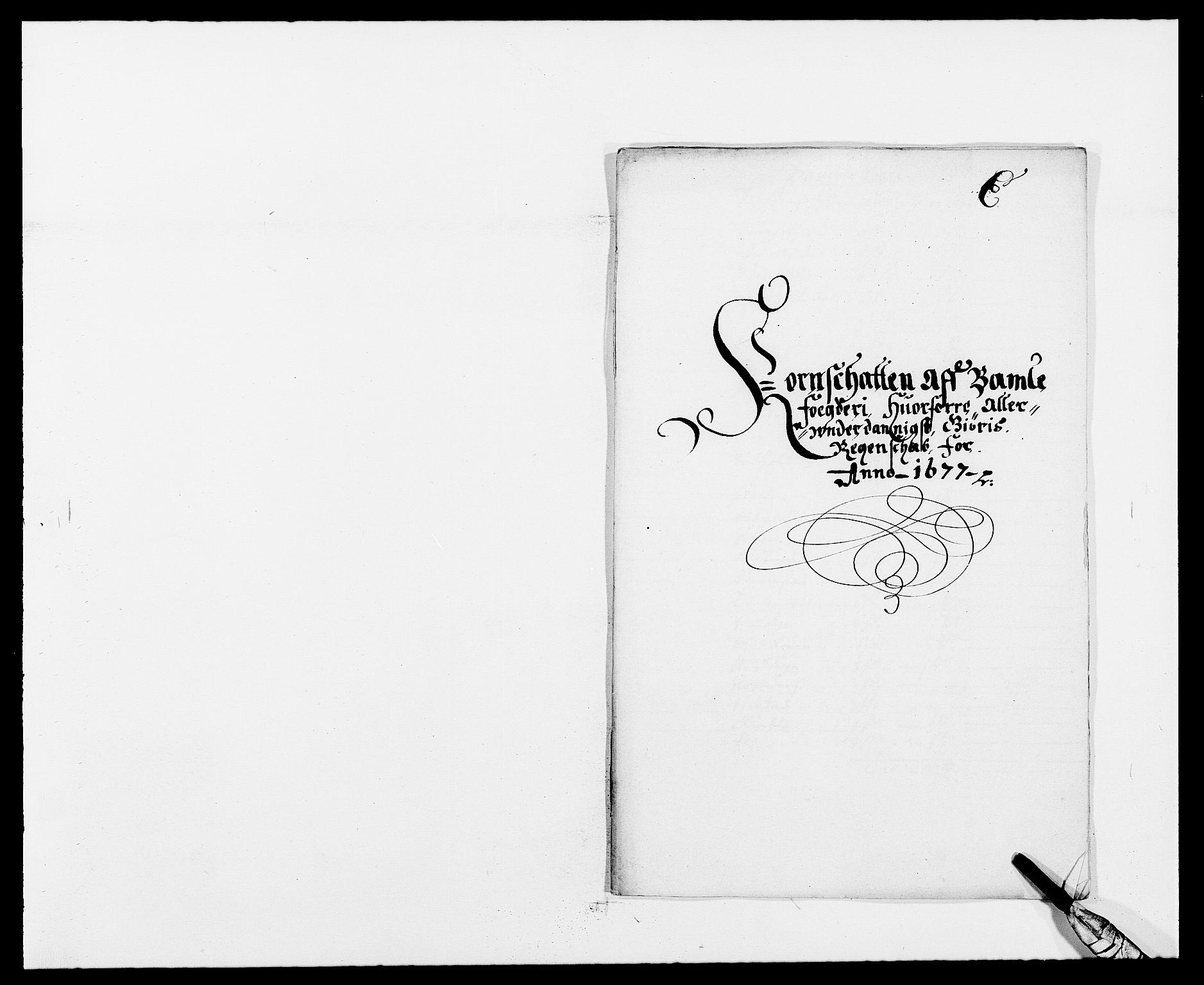 RA, Rentekammeret inntil 1814, Reviderte regnskaper, Fogderegnskap, R34/L2043: Fogderegnskap Bamble, 1676-1677, s. 310