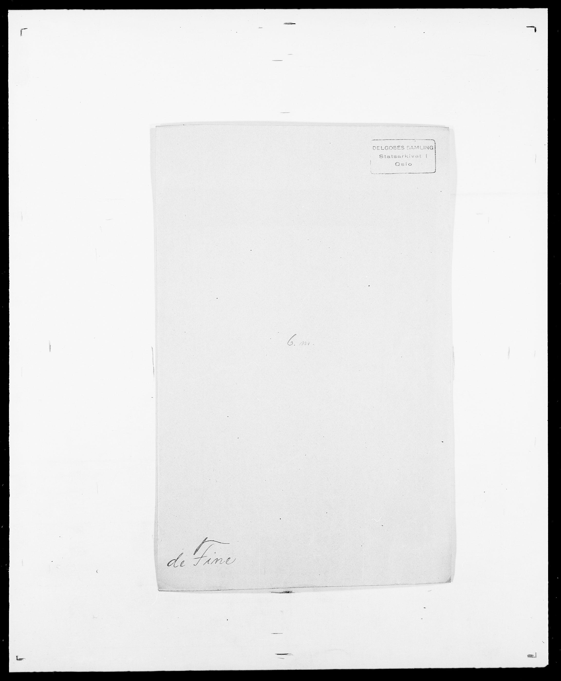 SAO, Delgobe, Charles Antoine - samling, D/Da/L0011: Fahlander - Flood, Flod, s. 472
