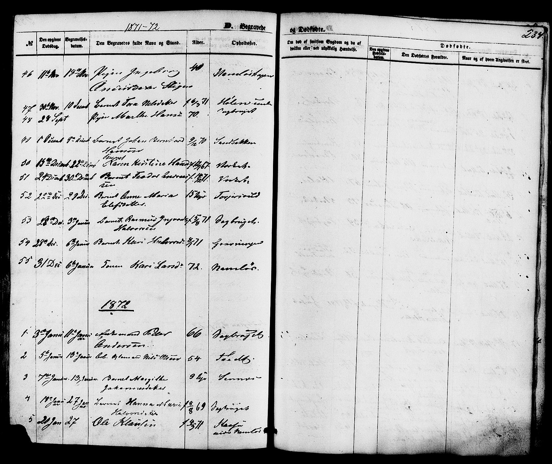 SAKO, Holla kirkebøker, F/Fa/L0007: Ministerialbok nr. 7, 1869-1881, s. 234