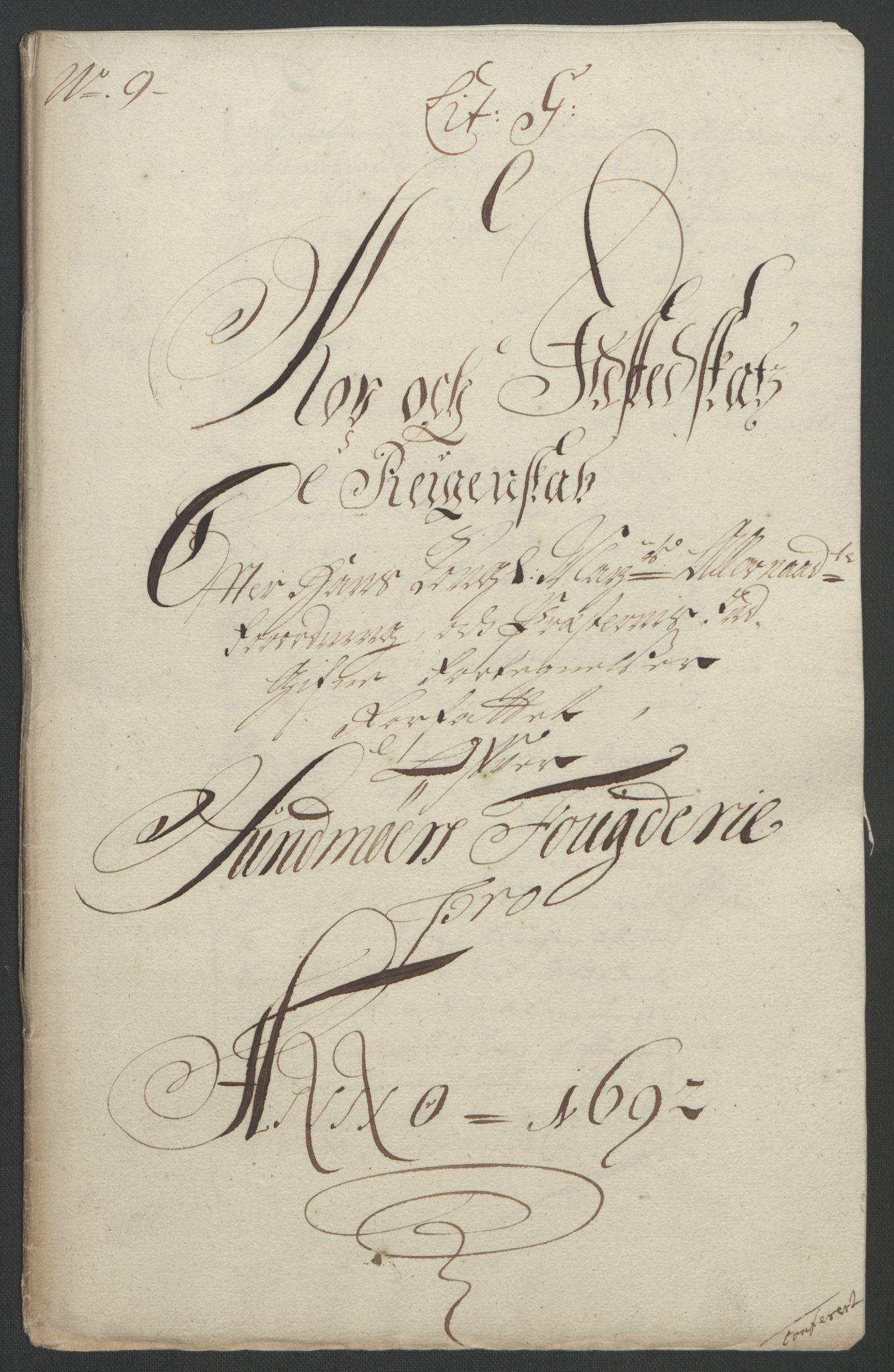 RA, Rentekammeret inntil 1814, Reviderte regnskaper, Fogderegnskap, R54/L3554: Fogderegnskap Sunnmøre, 1691-1693, s. 272