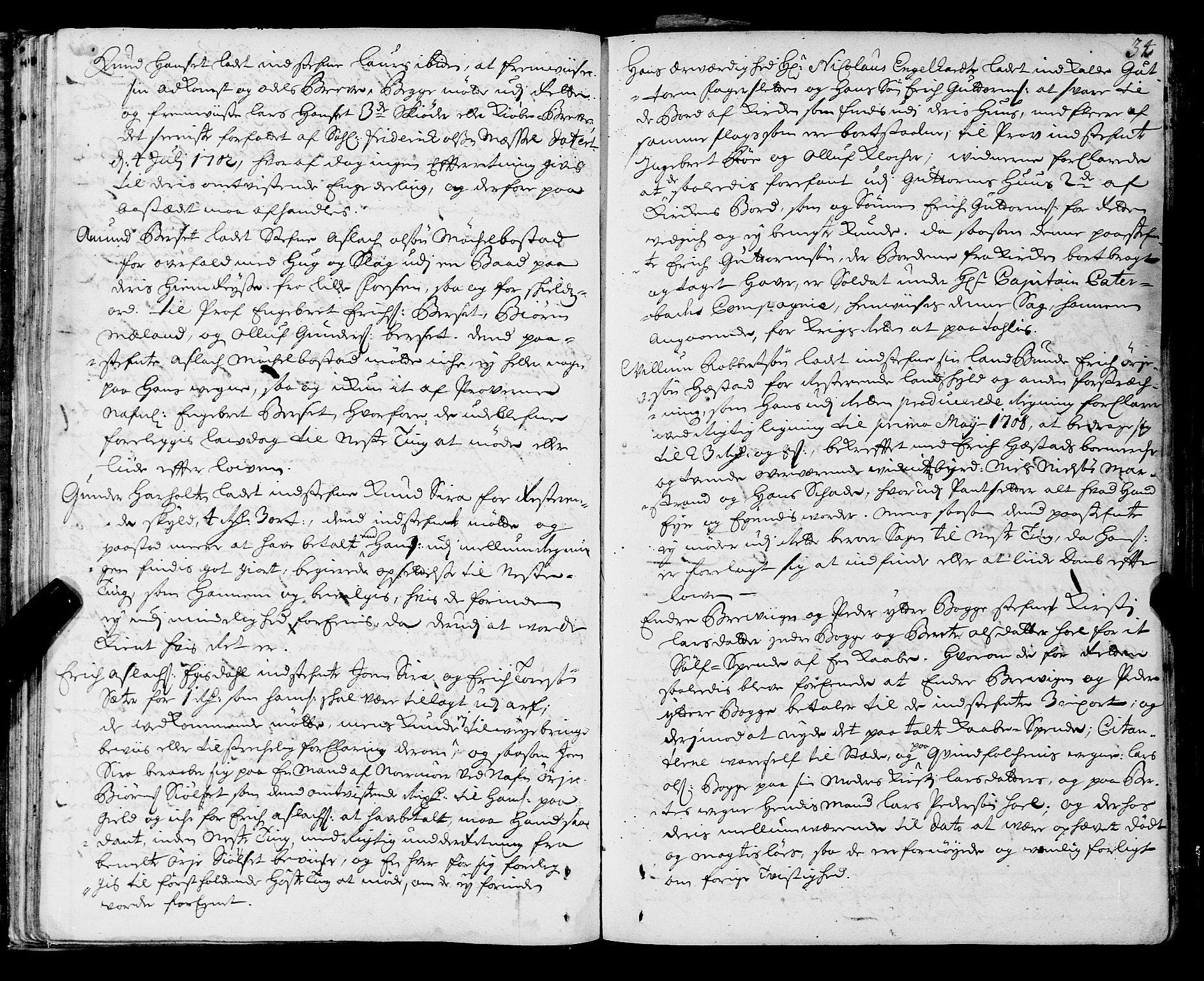 SAT, Romsdal sorenskriveri, 1/1A/L0006: Tingbok, 1707-1711, s. 33b-34a