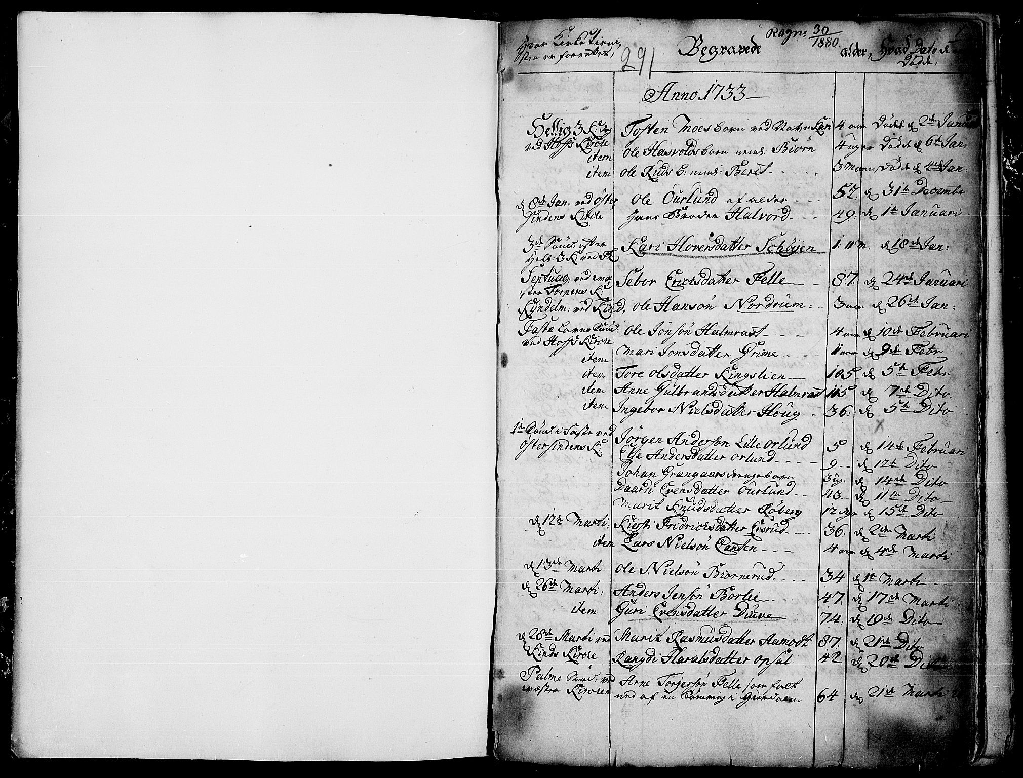 SAH, Land prestekontor, Ministerialbok nr. 4, 1733-1764, s. 0-1