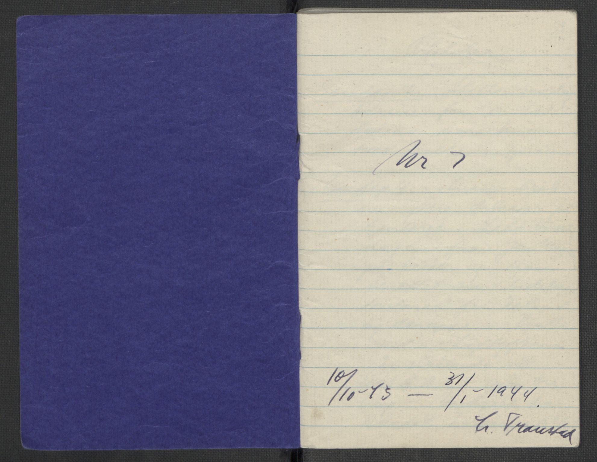RA, Tronstad, Leif, F/L0001: Dagbøker, 1941-1945, s. 559