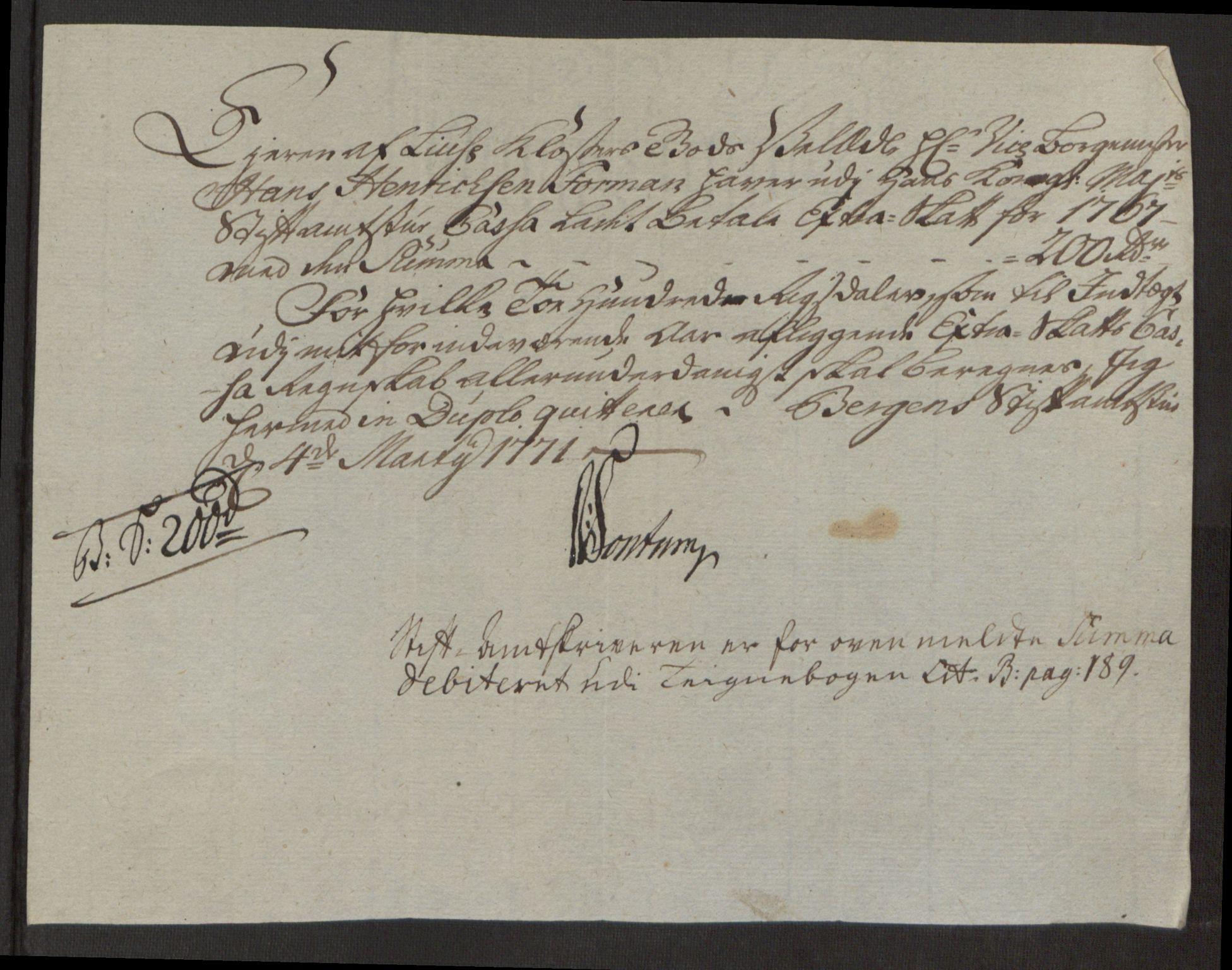 RA, Rentekammeret inntil 1814, Reviderte regnskaper, Fogderegnskap, R50/L3180: Ekstraskatten Lyse kloster, 1762-1783, s. 184
