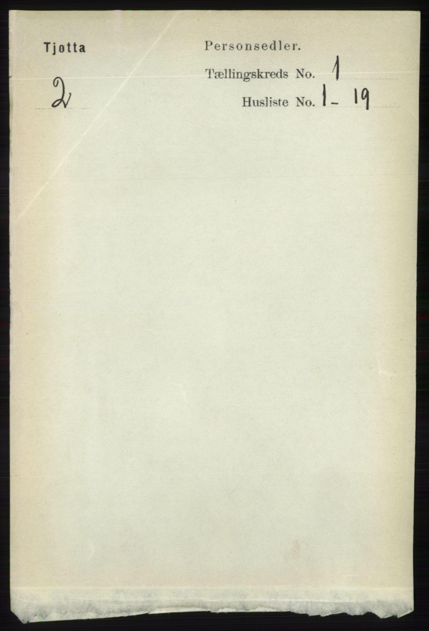 RA, Folketelling 1891 for 1817 Tjøtta herred, 1891, s. 129
