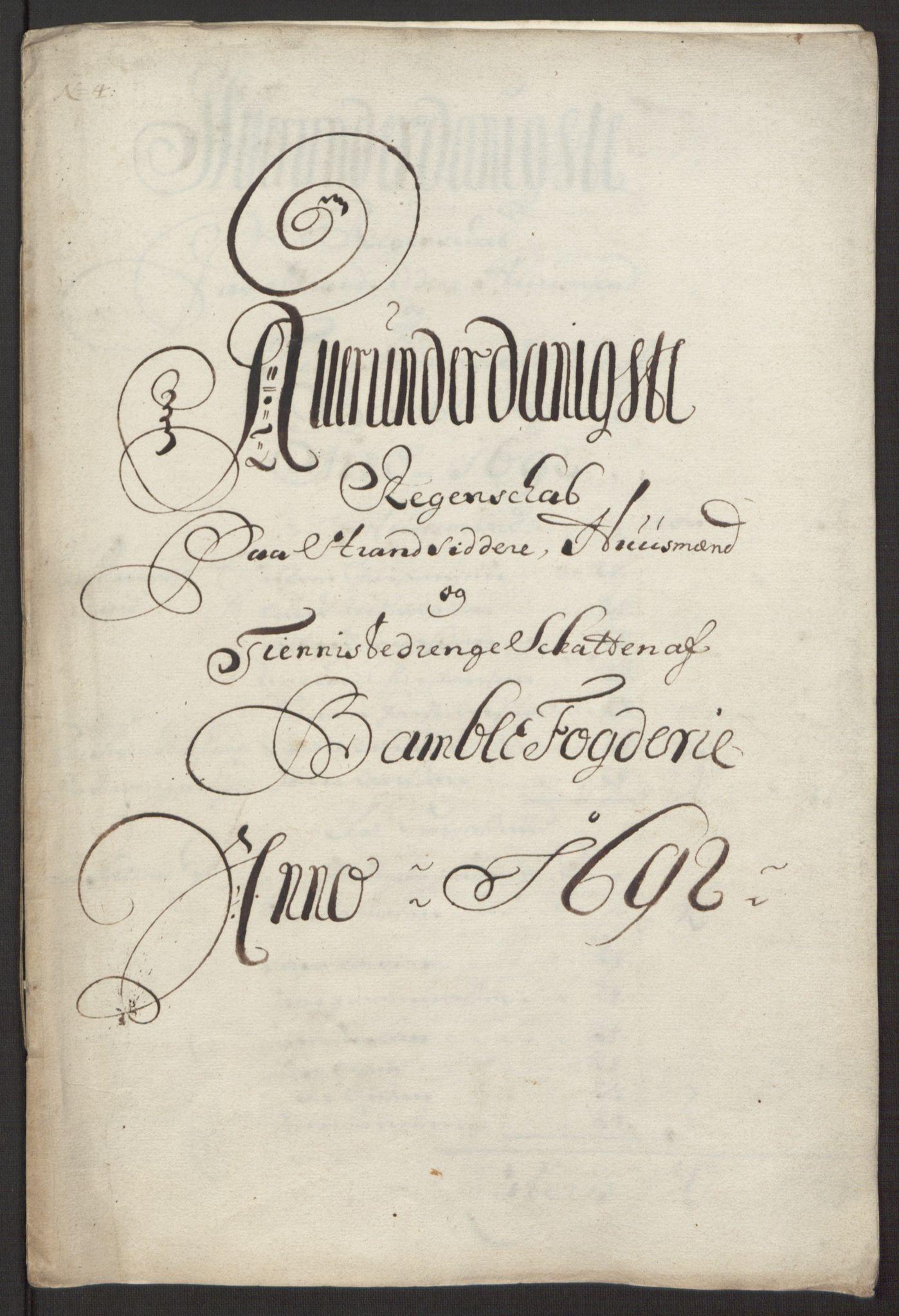 RA, Rentekammeret inntil 1814, Reviderte regnskaper, Fogderegnskap, R34/L2052: Fogderegnskap Bamble, 1692-1693, s. 157
