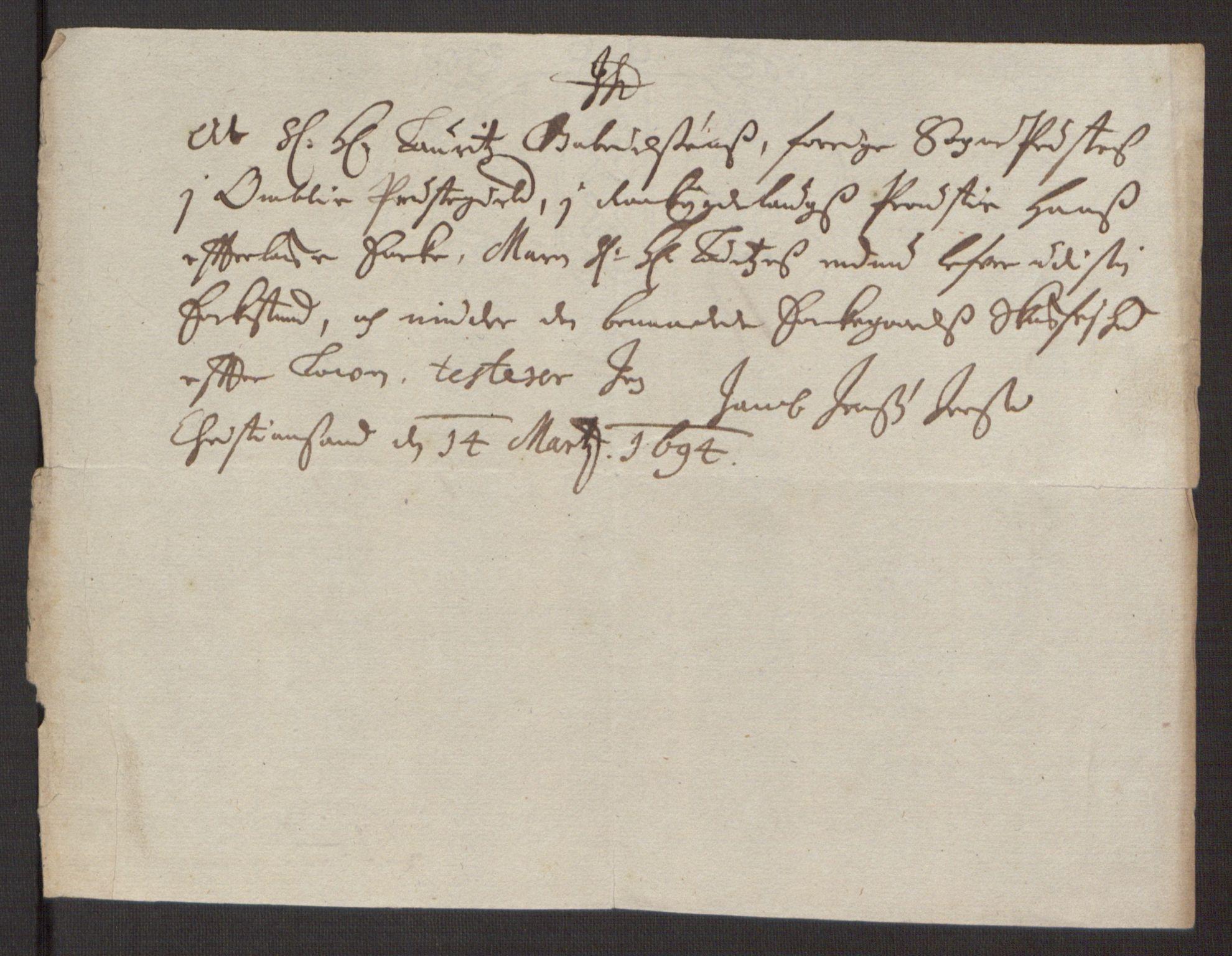 RA, Rentekammeret inntil 1814, Reviderte regnskaper, Fogderegnskap, R40/L2444: Fogderegnskap Råbyggelag, 1693-1696, s. 53
